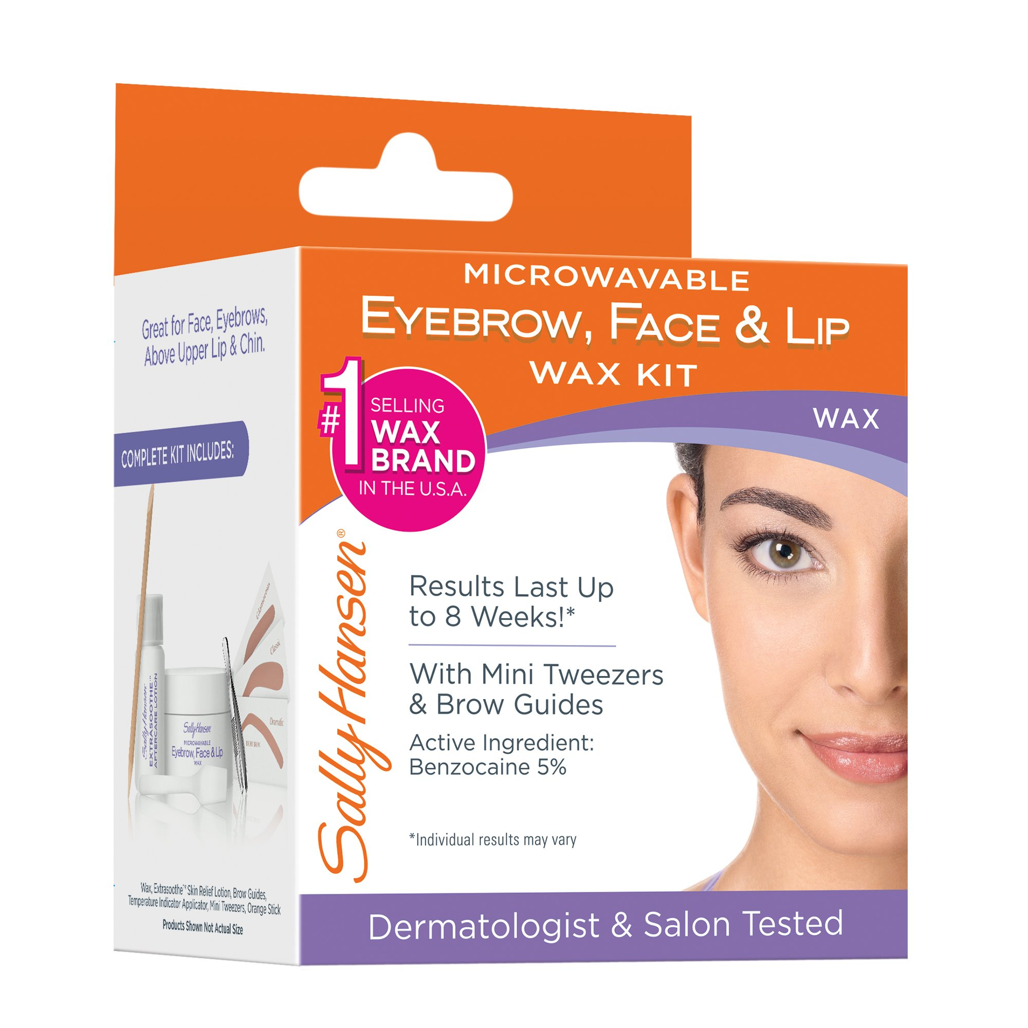 Sally Hansen Microwaveable Eyebrow Face Lip Wax Shop
