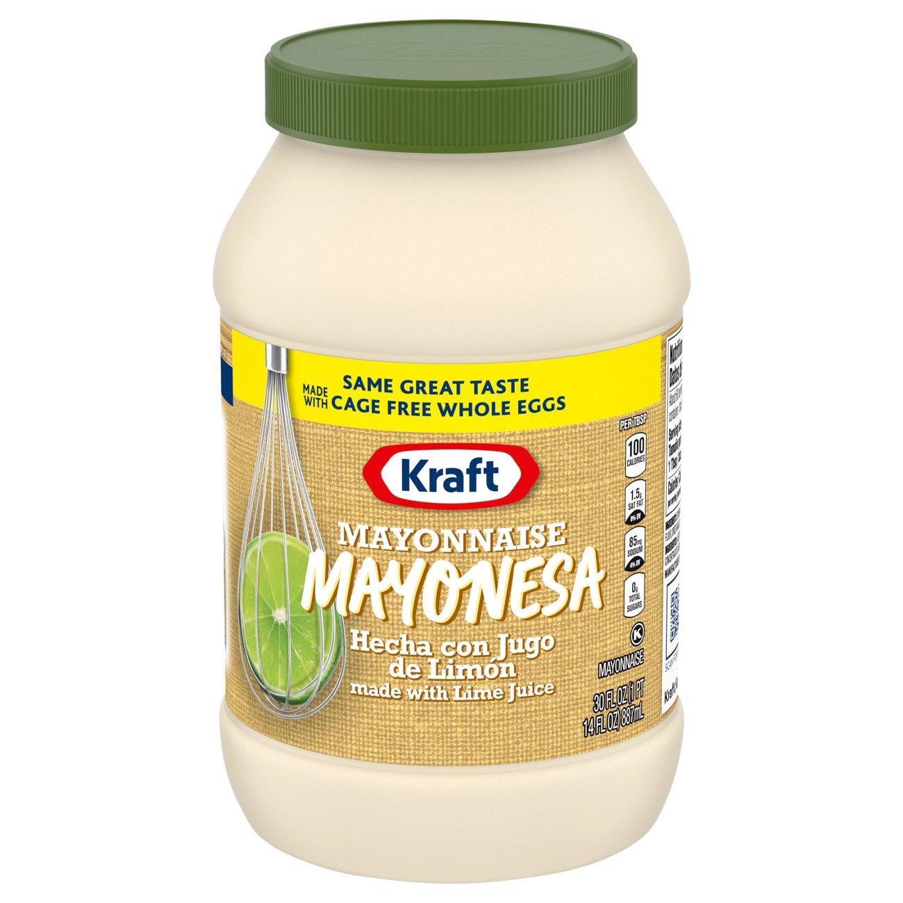 Kraft Mayonesa Real Mayonnaise With Lime Juice Shop Mayonnaise Spreads At H E B