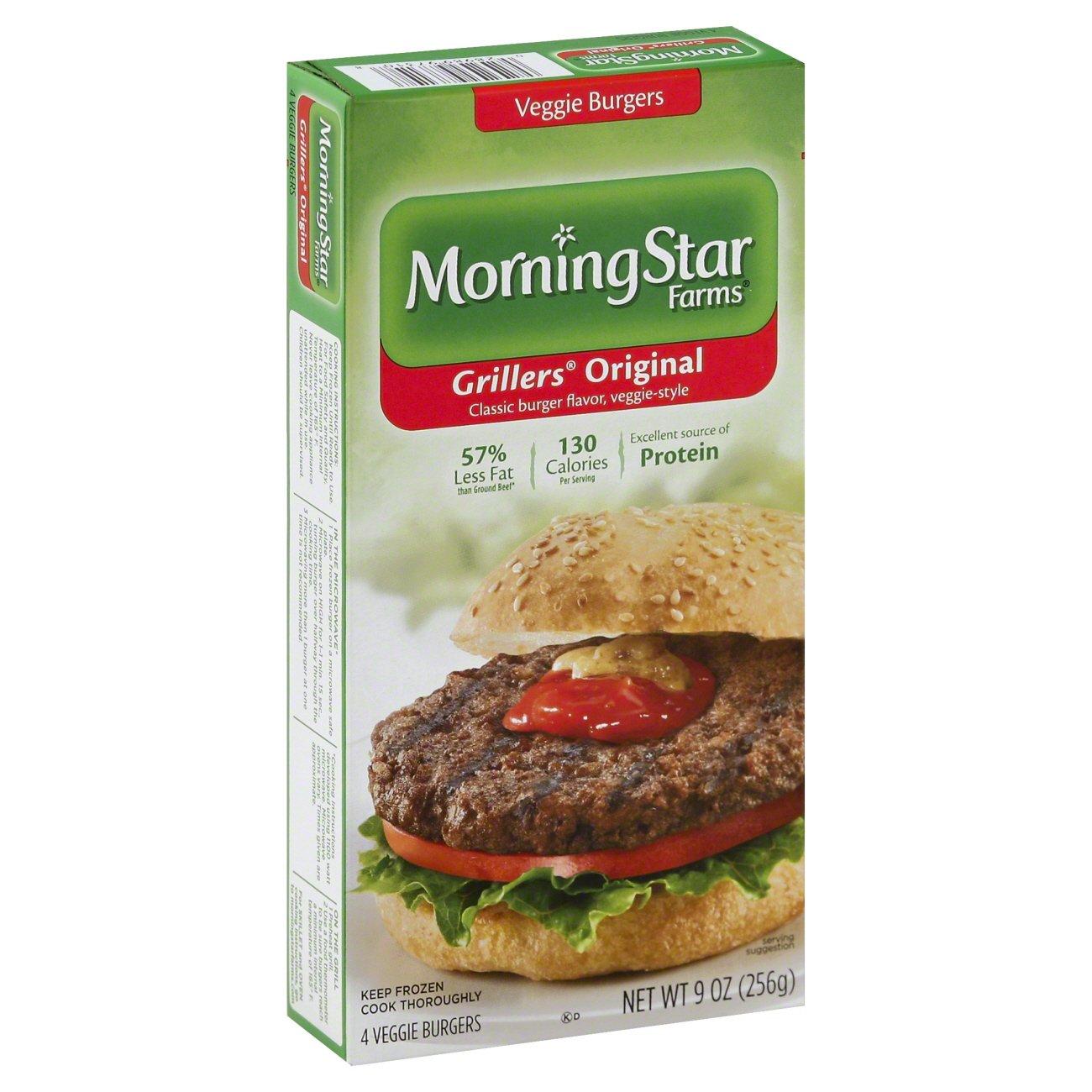morningstar farms grillers original veggie burgers shop meat
