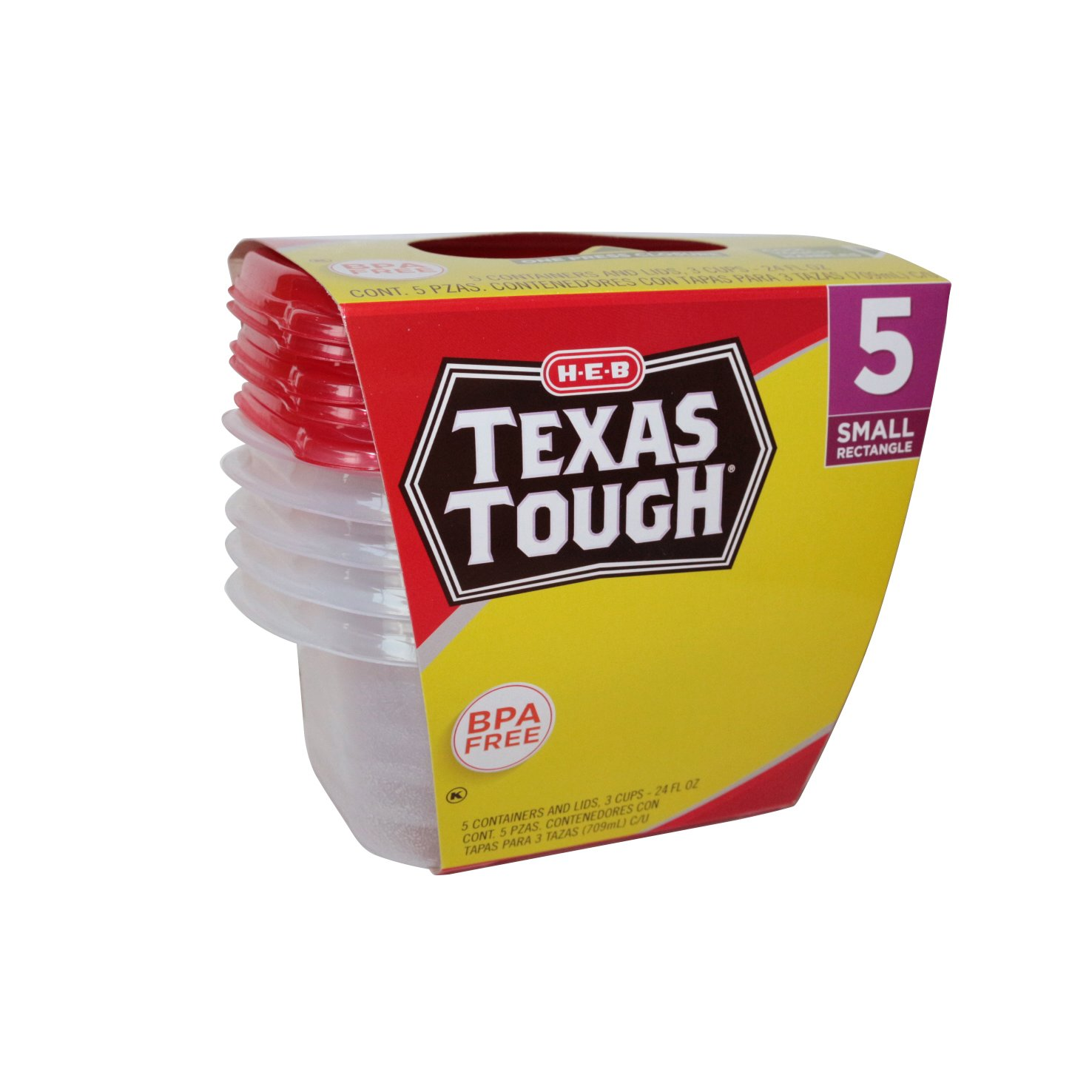 h u2011e u2011b texas tough small rectangle 24oz food storage containers