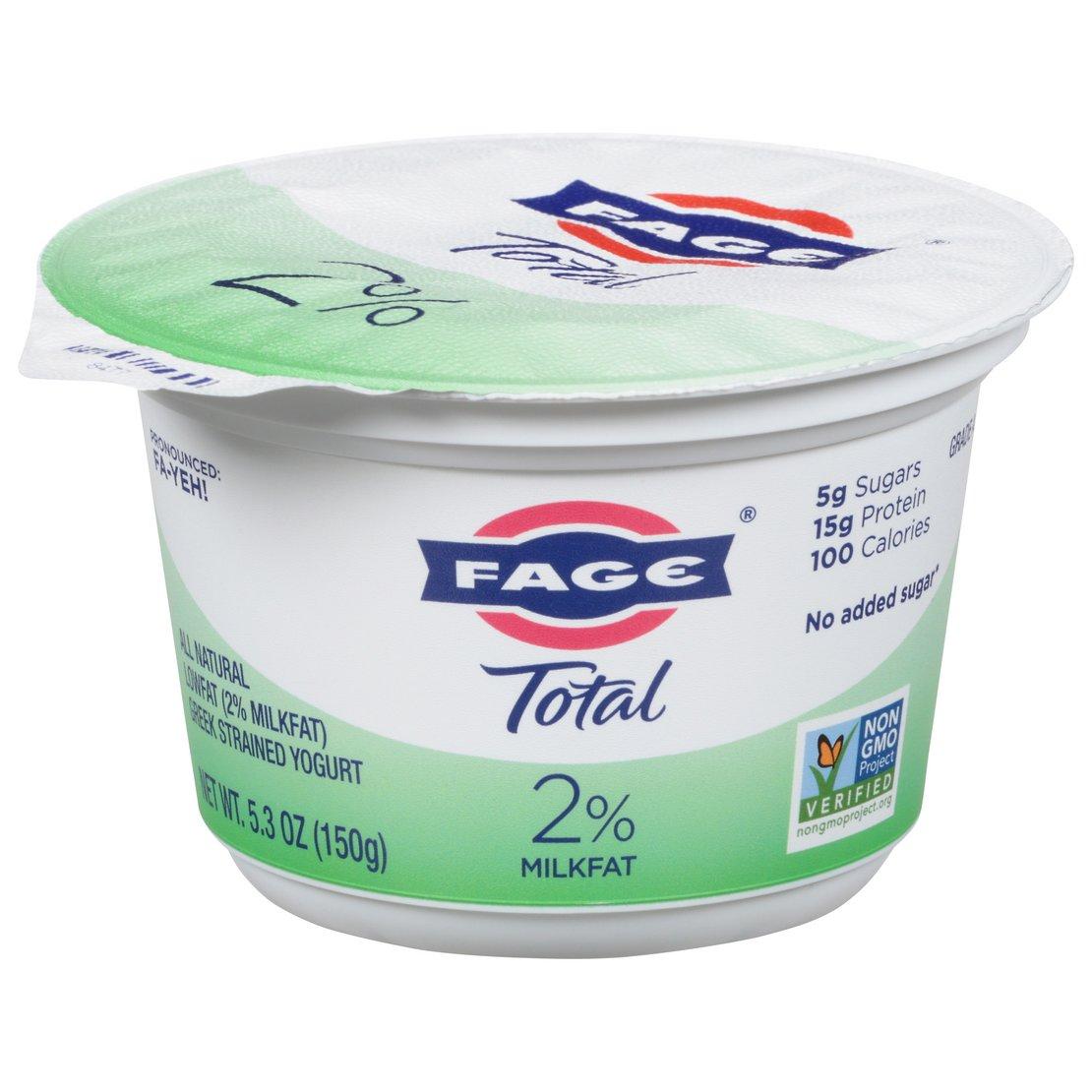Fage Total 2 Low Fat Plain Greek Yogurt Shop Yogurt At H E B