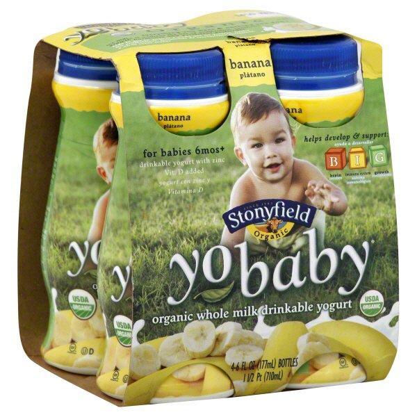 Stonyfield YoBaby Banana Whole Milk