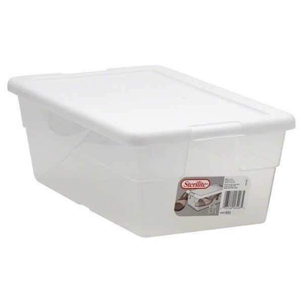 sterilite 6 qt white storage container u2011 shop storage at heb - Sterilite Storage Bins