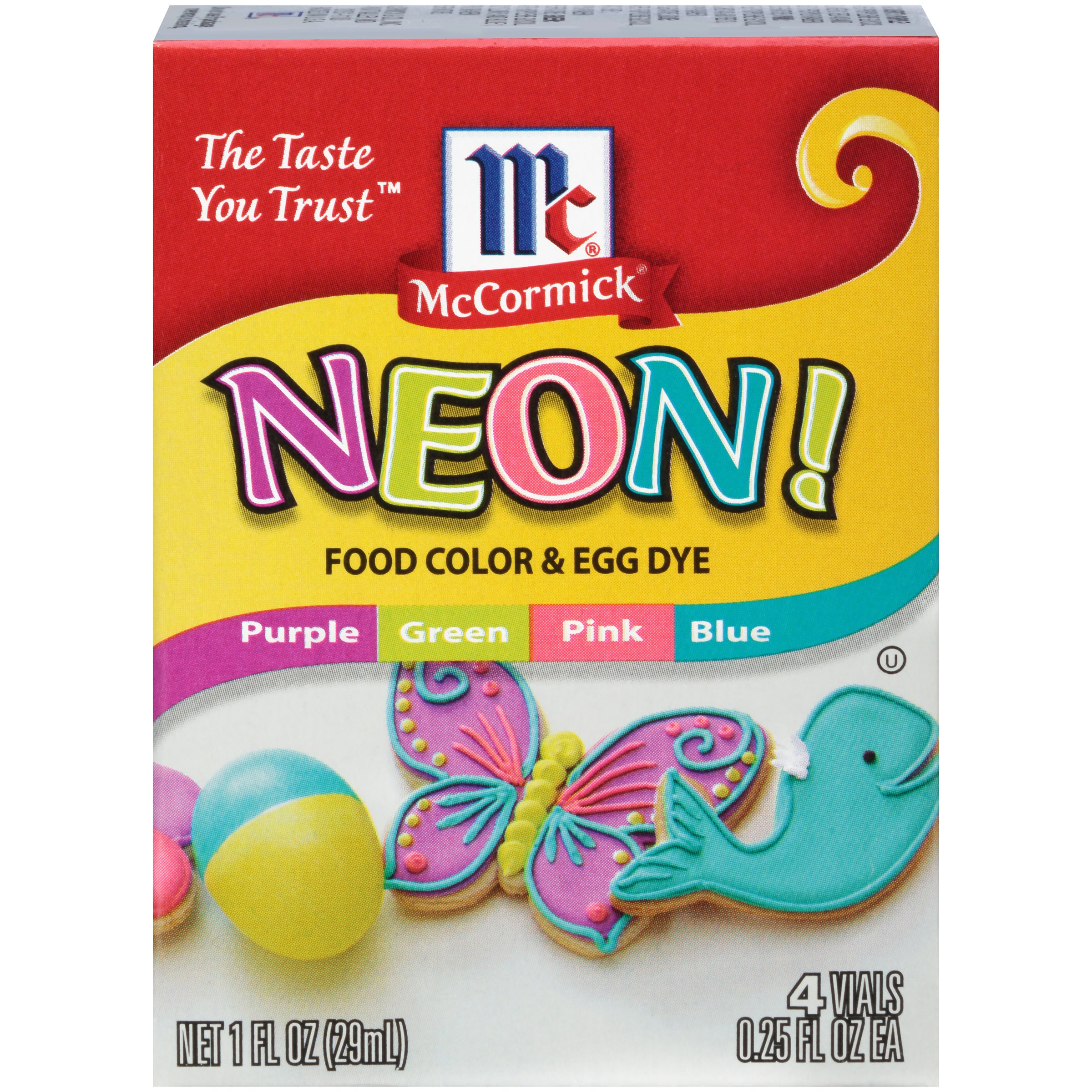 McCormick Assorted Neon Food Colors and Egg Dye - Shop Extracts at HEB
