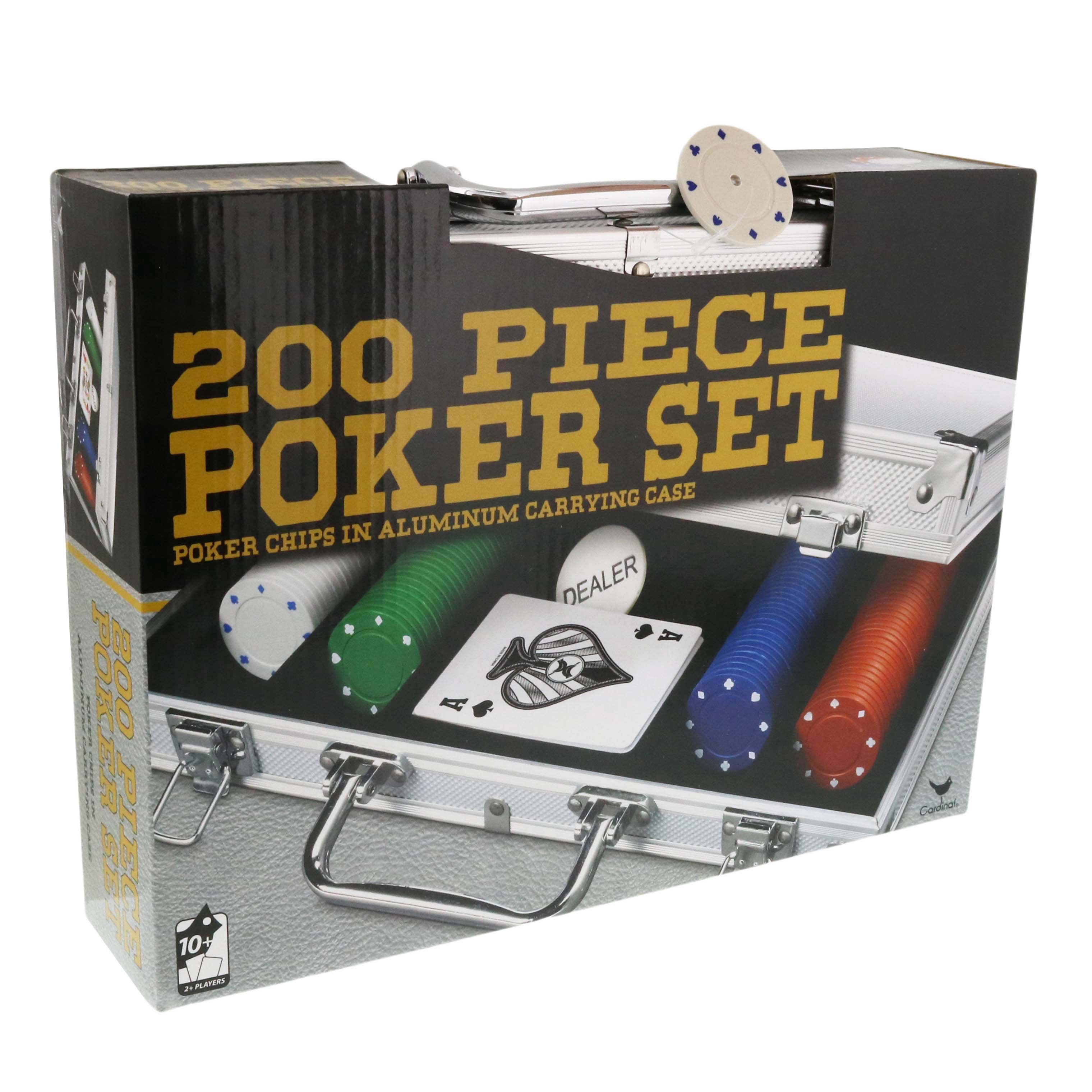 Spin Master Games Deluxe Poker Set With Aluminum Case Shop Games At H E B