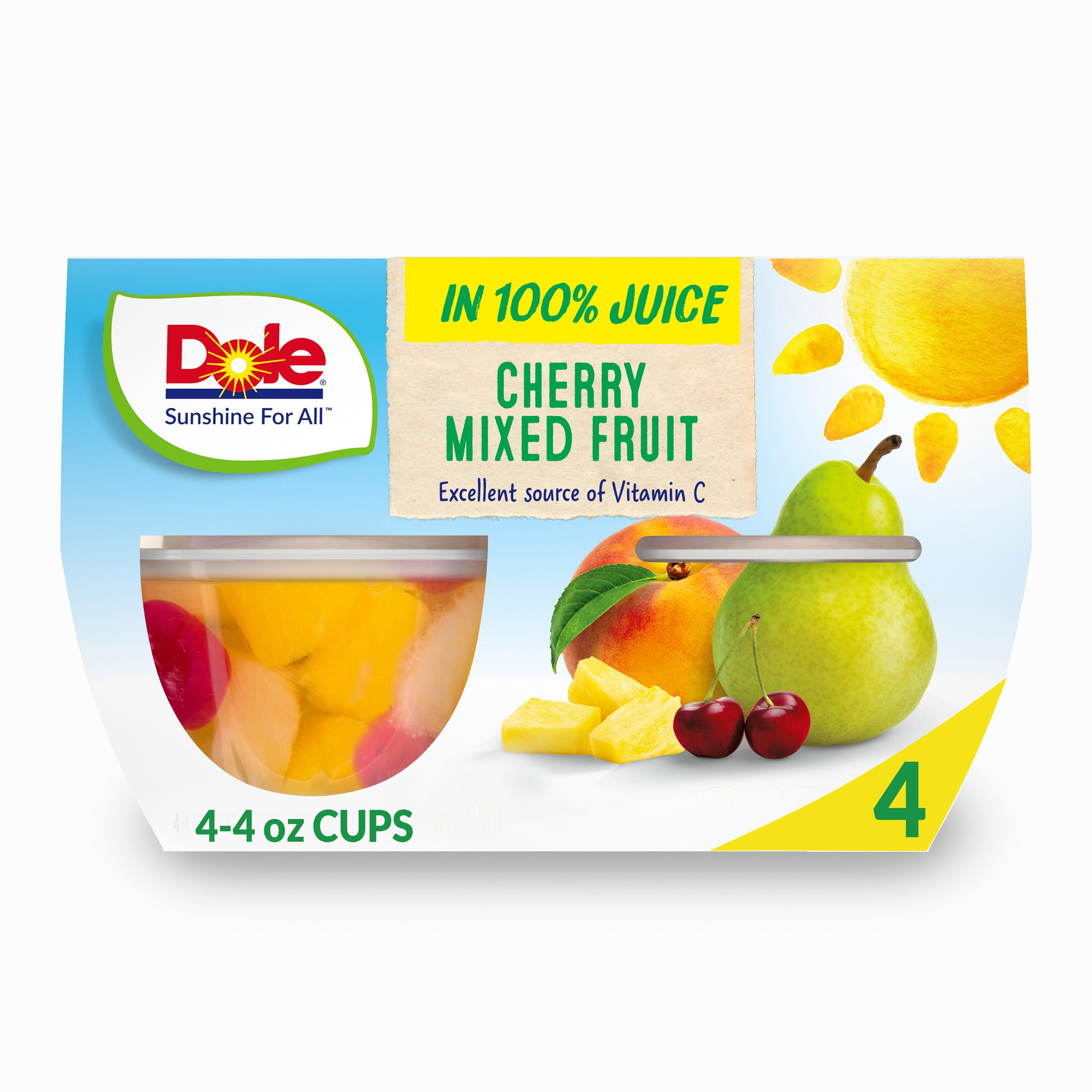 Dole Cherry Mixed Fruit In 100% Fruit