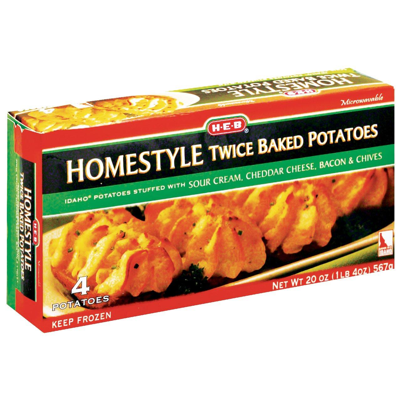 H E B Homestyle Twice Baked Potatoes Shop Potatoes Carrots At H E B