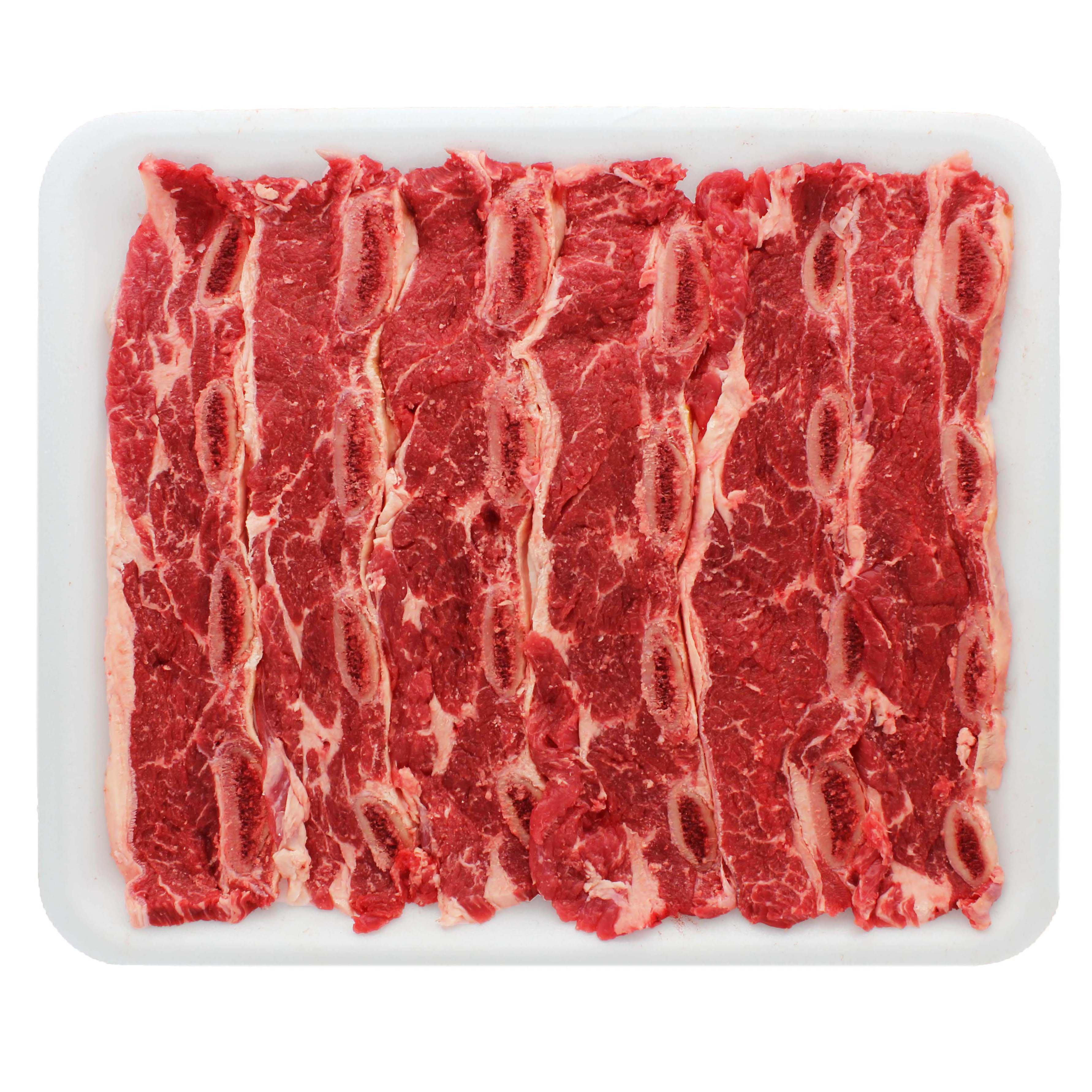 H E B Beef Chuck Shoulder Flanken Style Ribs Thin Bone In Value Pack Shop Beef At H E B