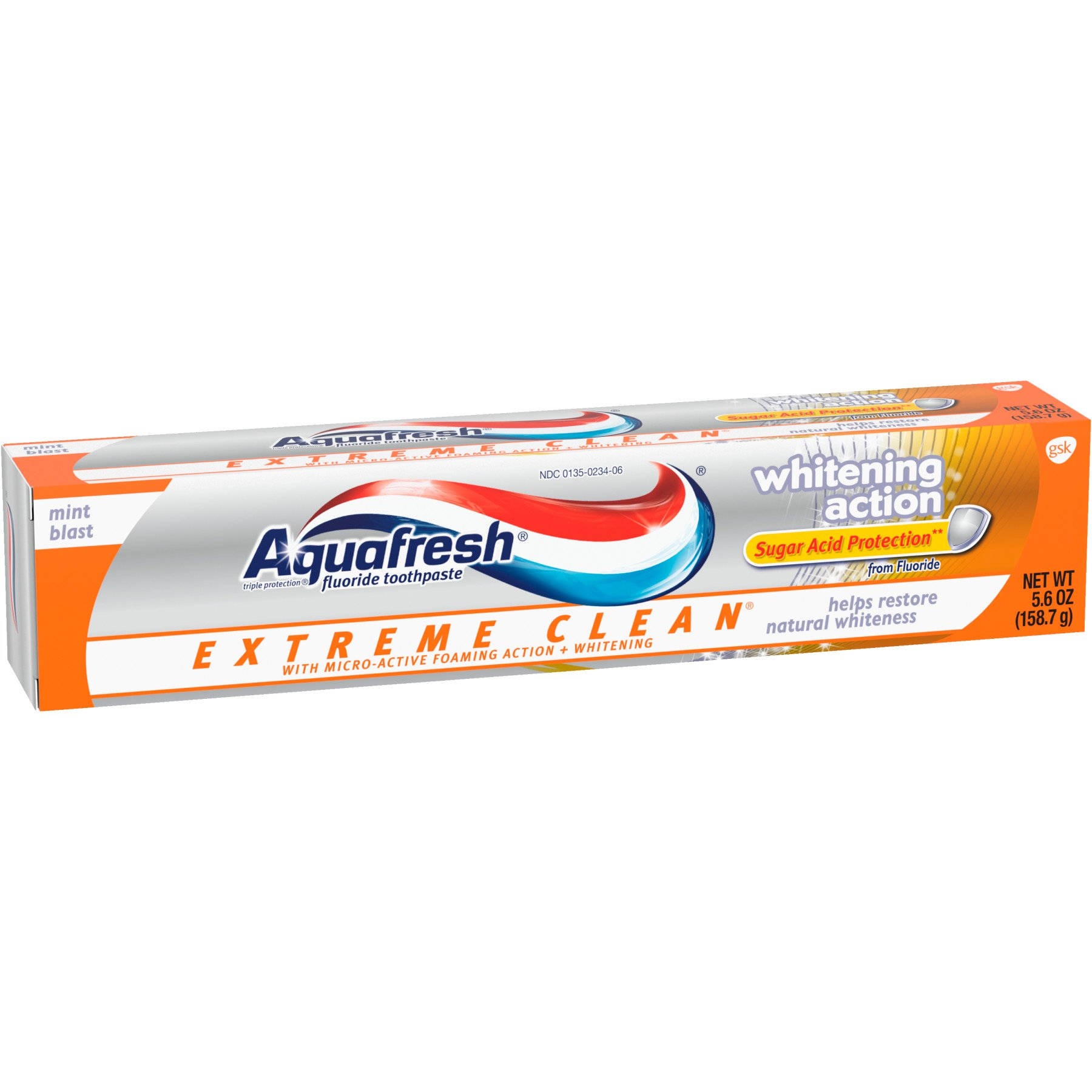 Aquafresh Extreme Clean Whitening Action Fluoride Mint ...