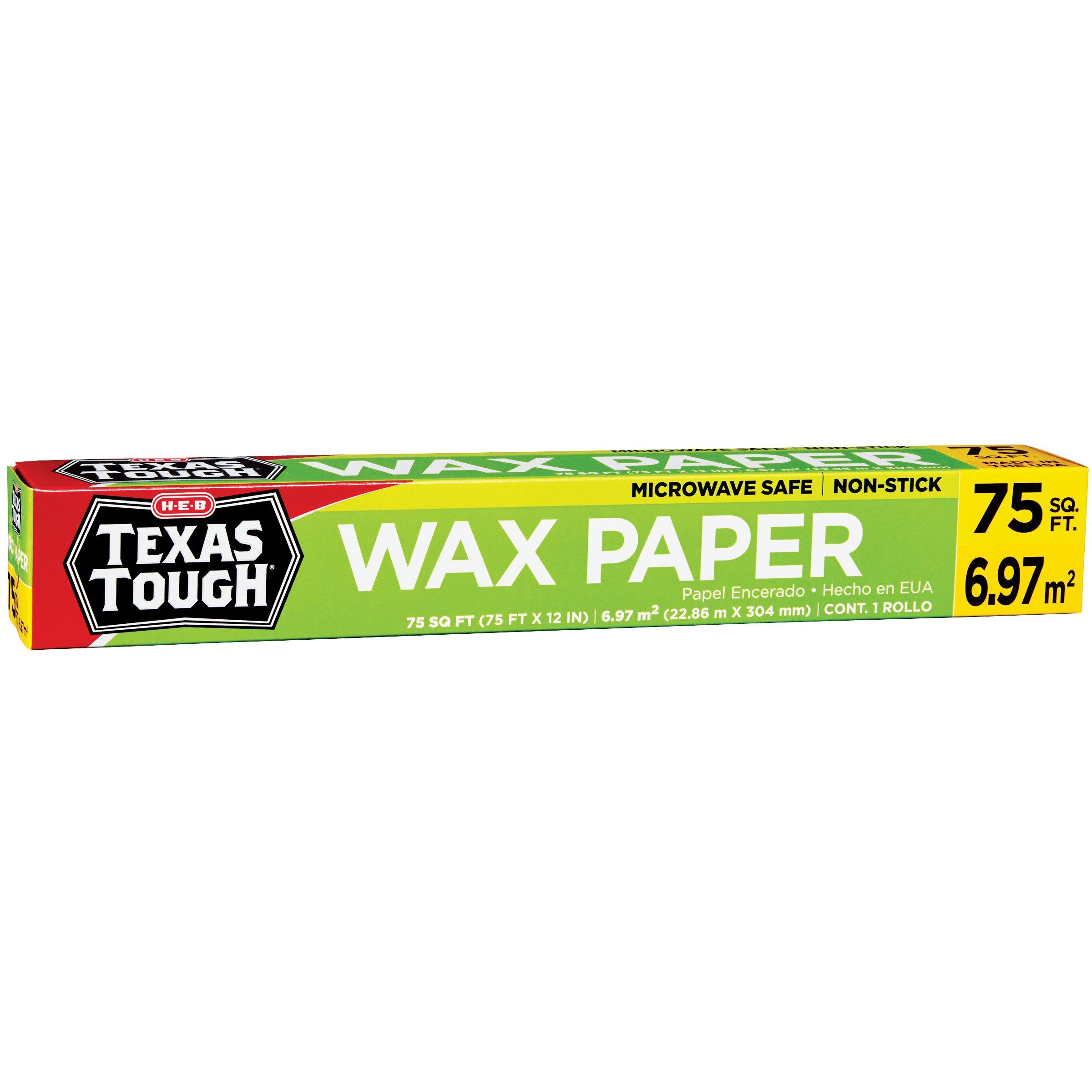 H-E-B Texas Tough Wax Paper - Shop Foil & Plastic Wrap at ...