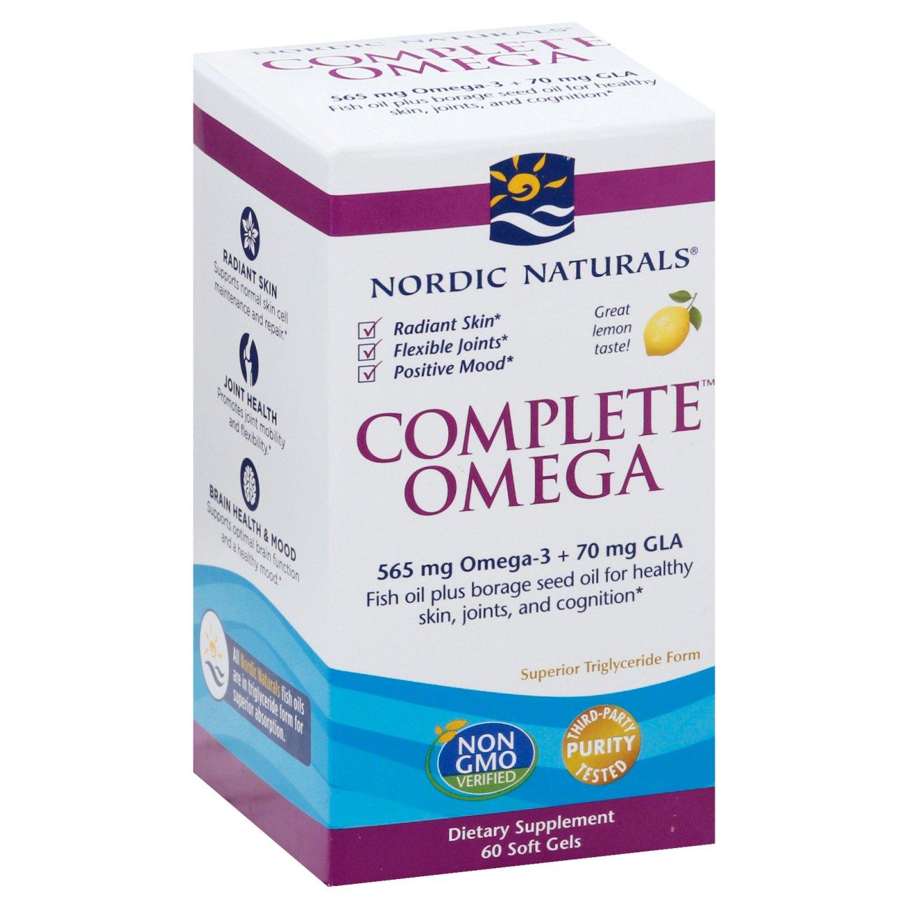 Nordic Naturals Complete Omega 3 6 9 1000 Mg Soft Gels Lemon