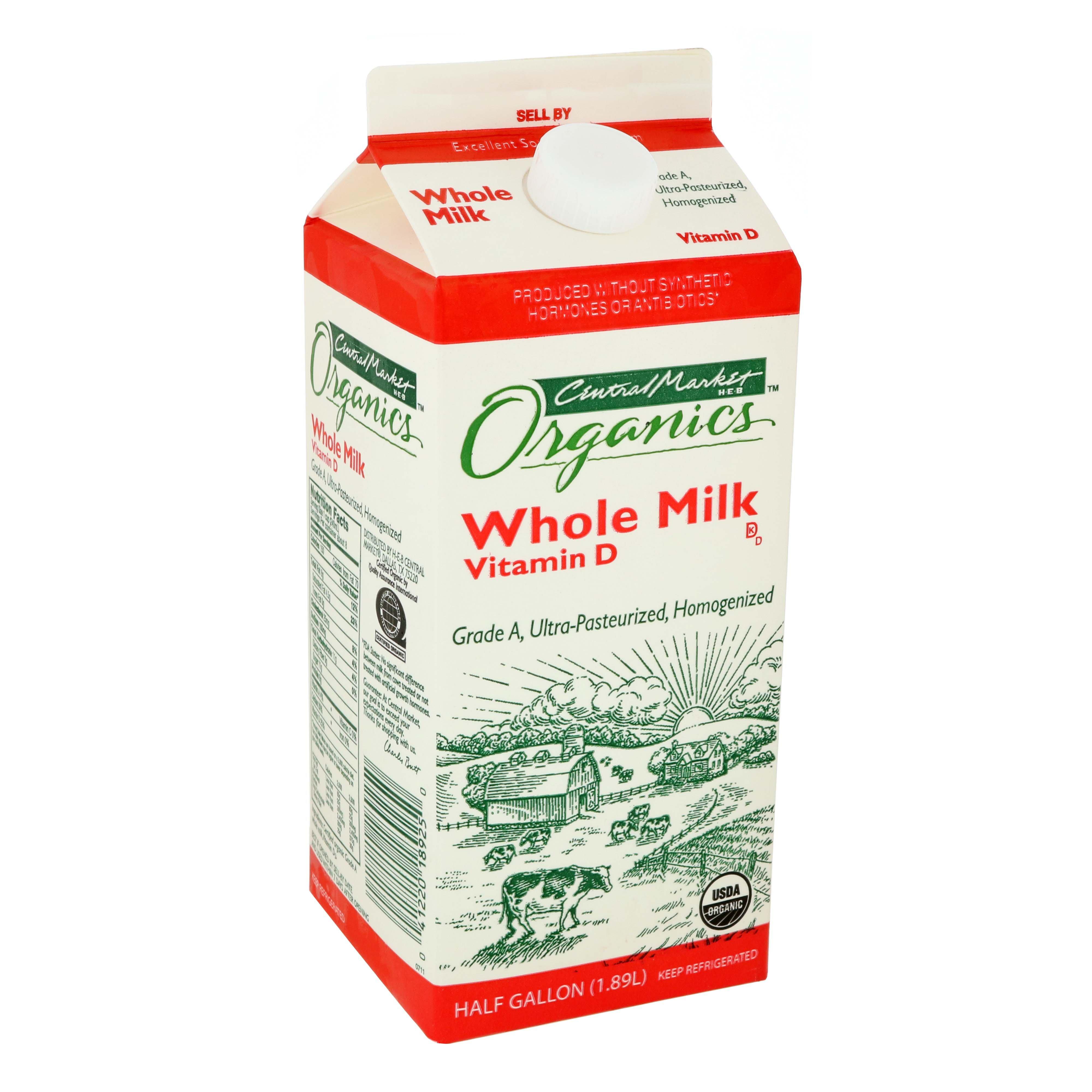 Central Market Organics Whole Milk Shop Milk At H E B