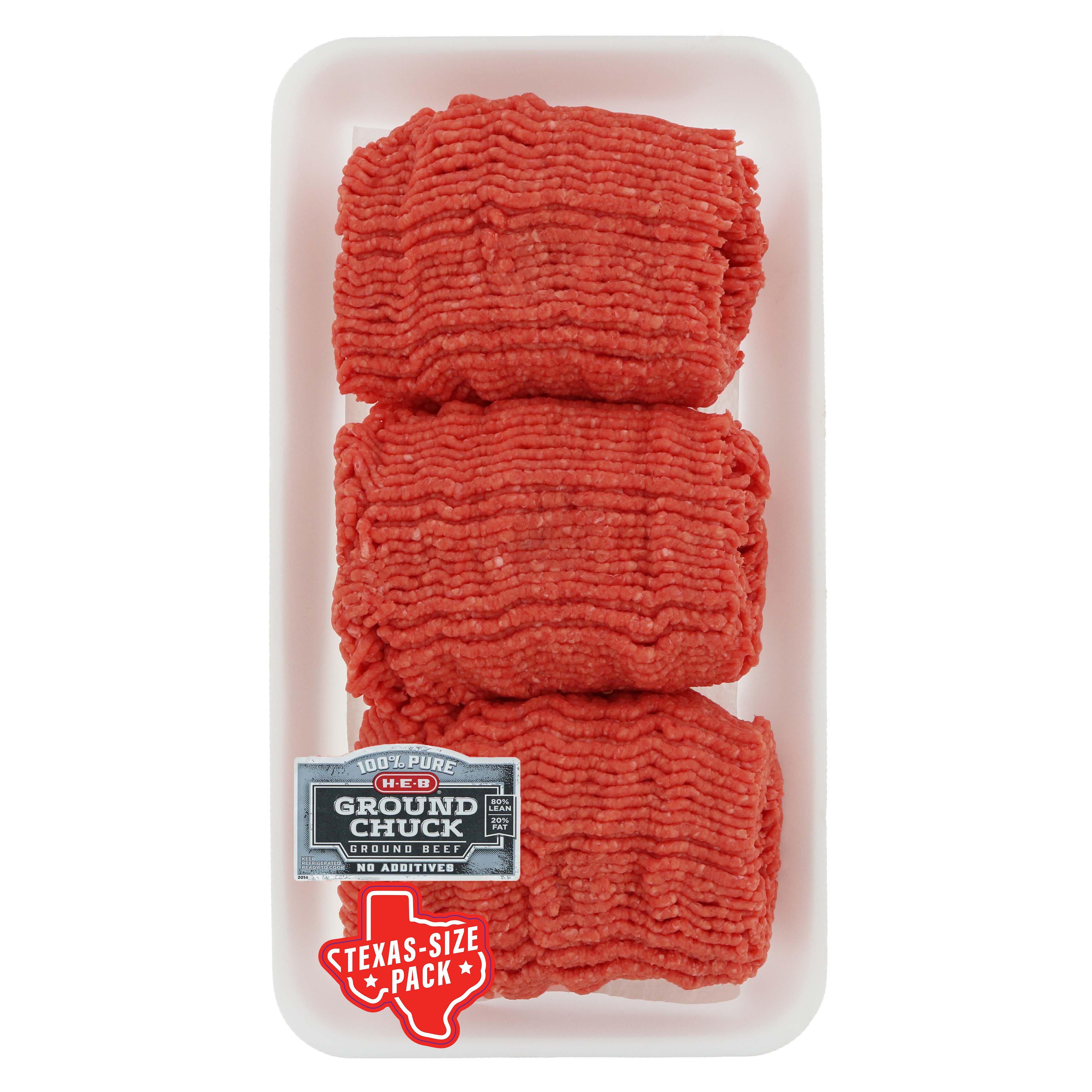 H-E-B Ground Chuck Club Pack 80% Lean