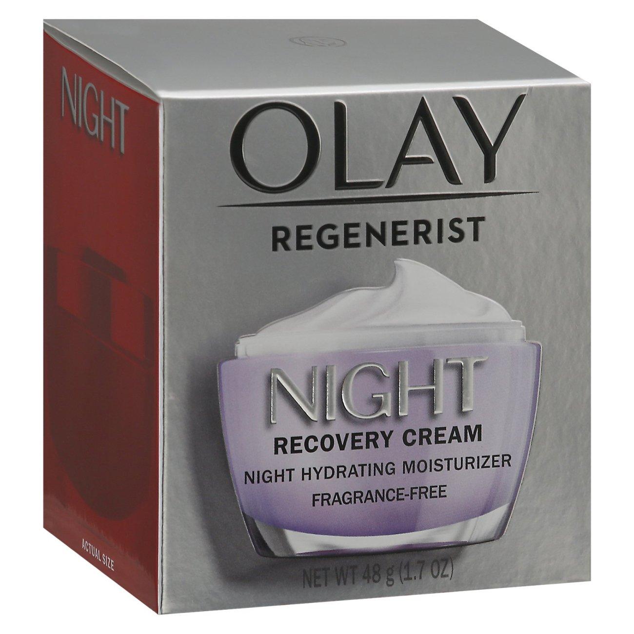 Olay Regenerist Night Recovery Advanced Anti-Aging Fragrance-Free Facial Cream - Shop
