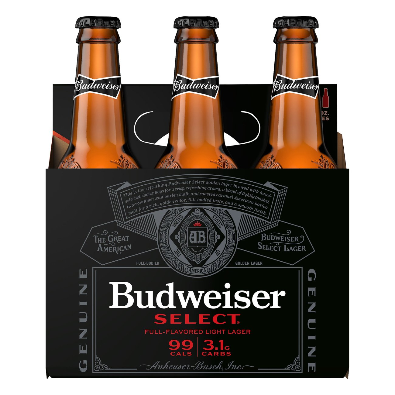 calories in a bottle of budweiser
