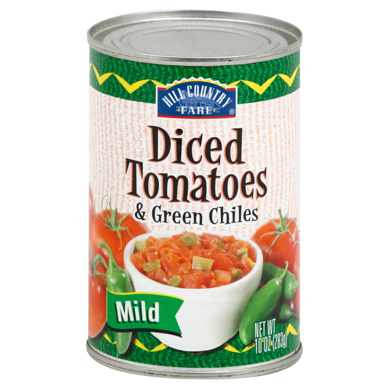 Hill Country Fare Mild Diced Tomatoes Green Chilies Shop Vegetables At H E B