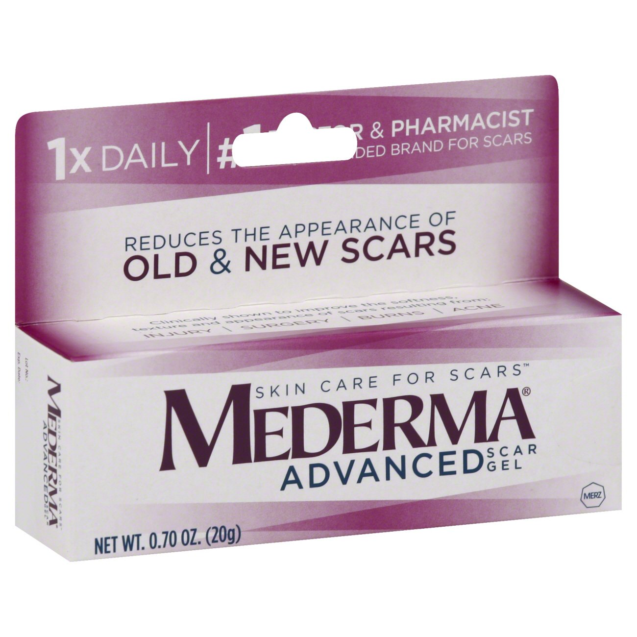 Mederma Advanced Scar Gel Shop Facial Masks Treatments At H E B
