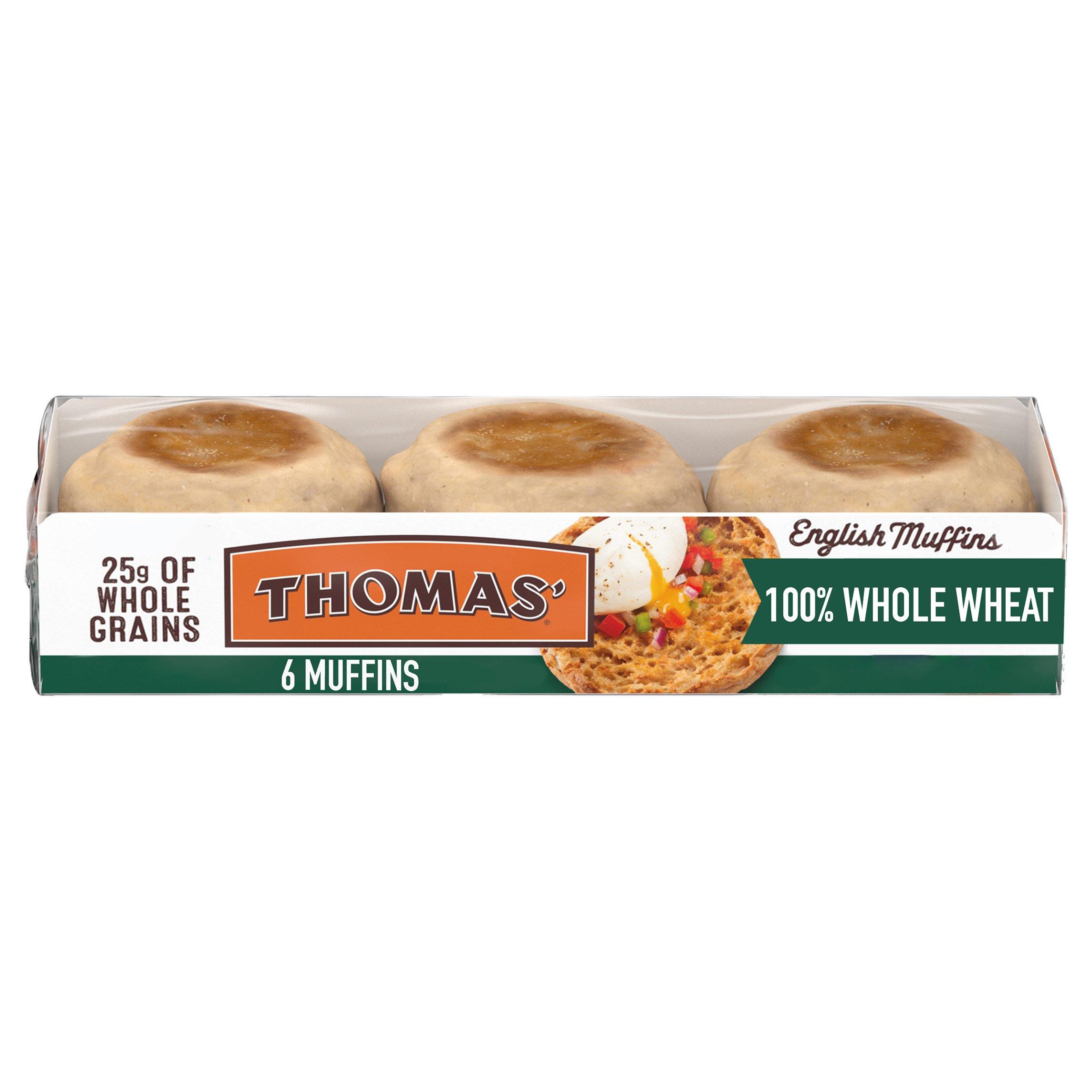 Thomas 100 Whole Wheat English Muffins Shop Bread At H E B