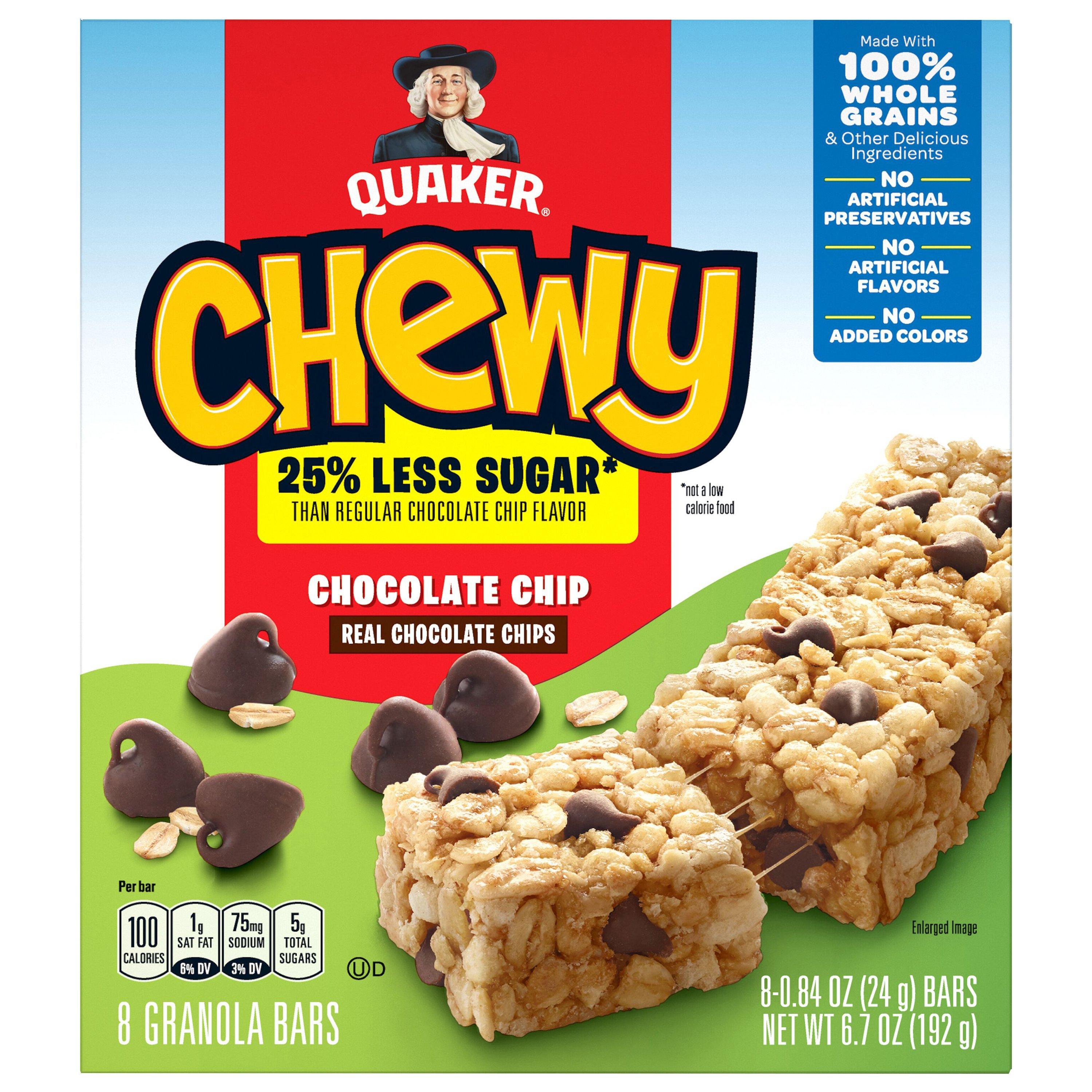 Less Sugar Chocolate Chip Granola Bars