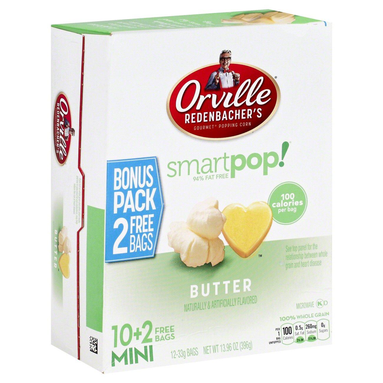 Smart Pop! Microwave Popcorn Mini Bags