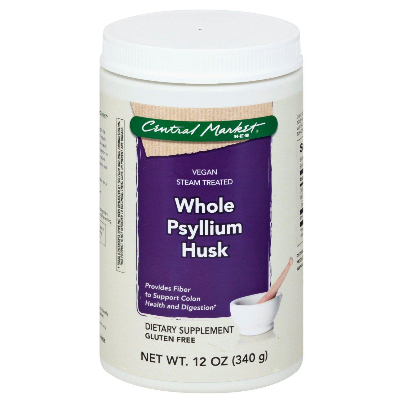 central market vegan steam treated whole psyllium husk shop