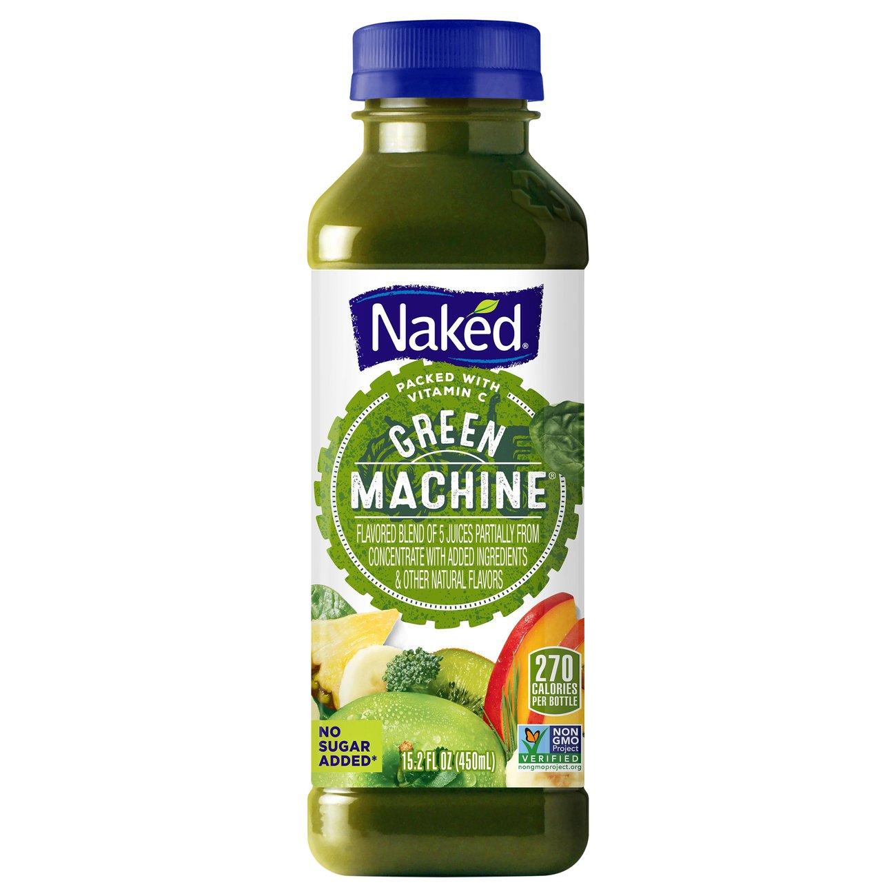 Naked 100% Juice Smoothie, Green Machine - 15.2 fl oz (450 ml) - 15.2 fl oz (450 ml)