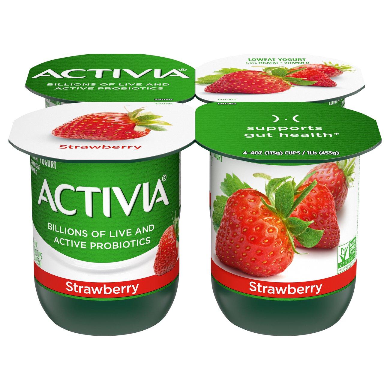 Dannon Activia Low-Fat Strawberry