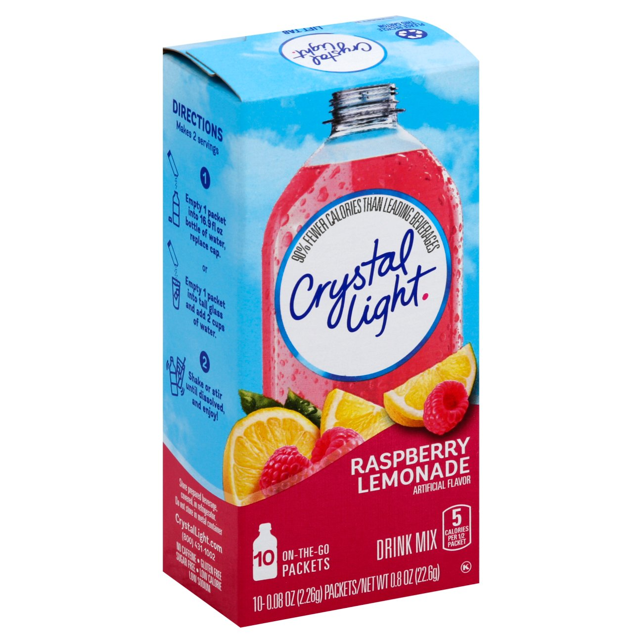 Crystal Light On The Go Raspberry Lemonade Drink Mix Shop Mixes