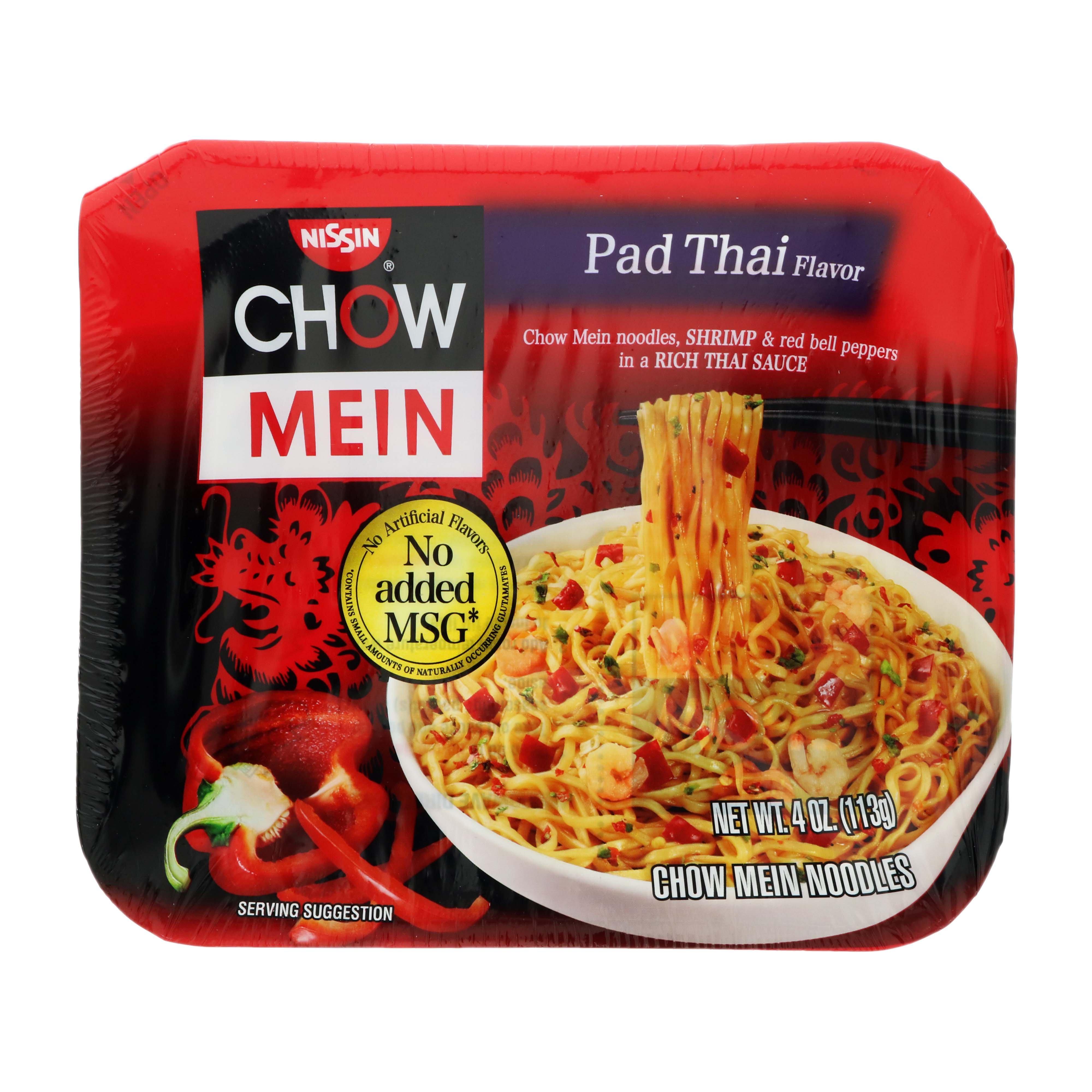 Nissin Chow Mein Pad Thai Flavor Noodles Shop Pantry Meals At H E B
