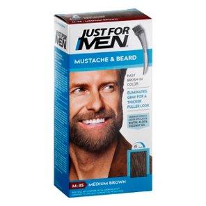 Just For Men Mustache & Beard Light-Medium Brown M-30 Brush-In Color ...