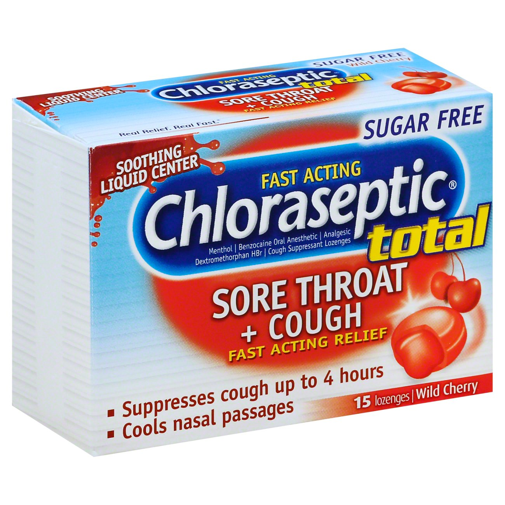 Chloraseptic Sugar Free Total Sore Throat + Cough Lozenges ‑ Shop Cough,  Cold & Flu at H‑E‑B