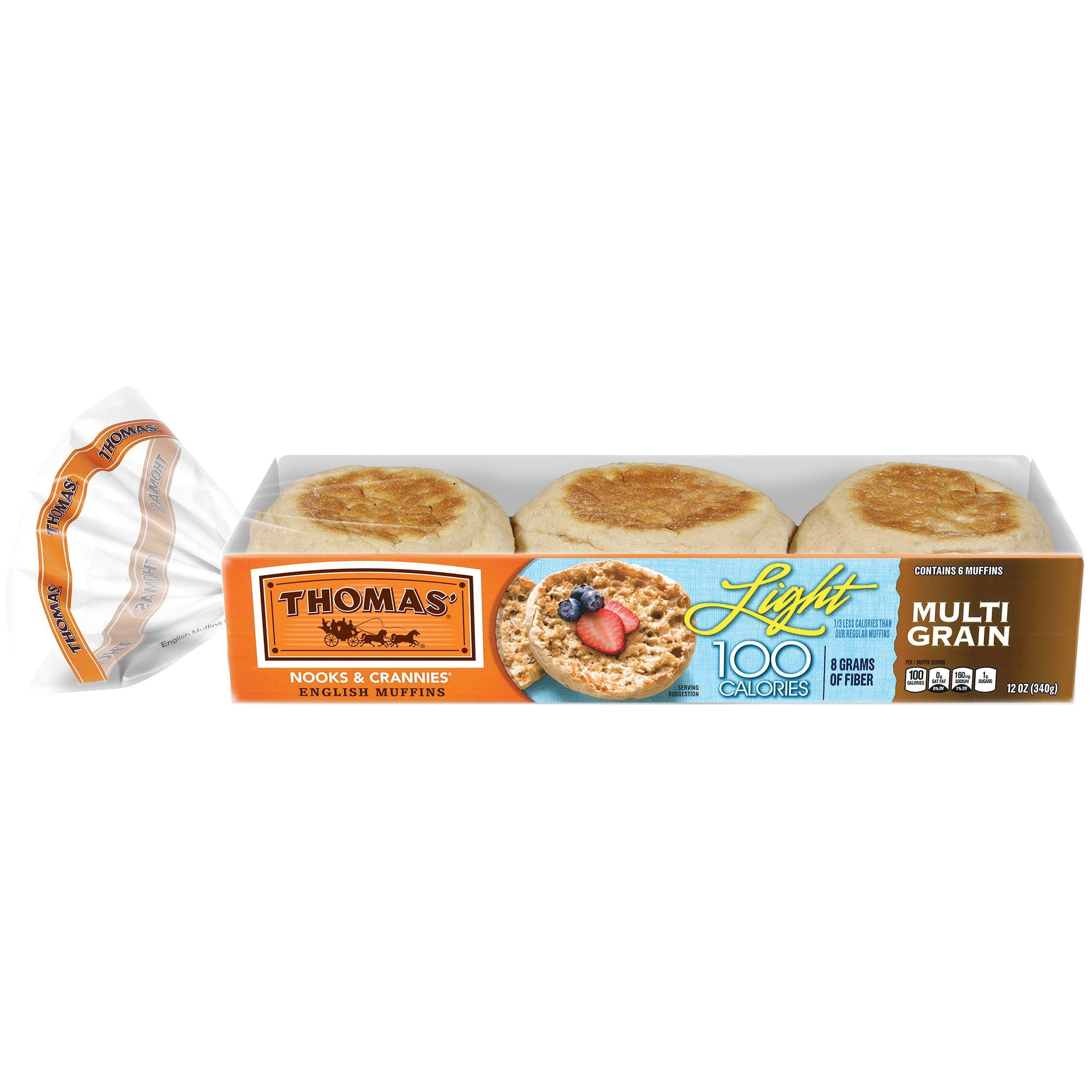 Thomas Light Multi Grain English Muffins Shop Bread At H E B