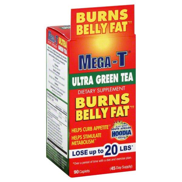 Mega T Ultra Green Tea With Hoodia Fat Burning Supplement Caplets