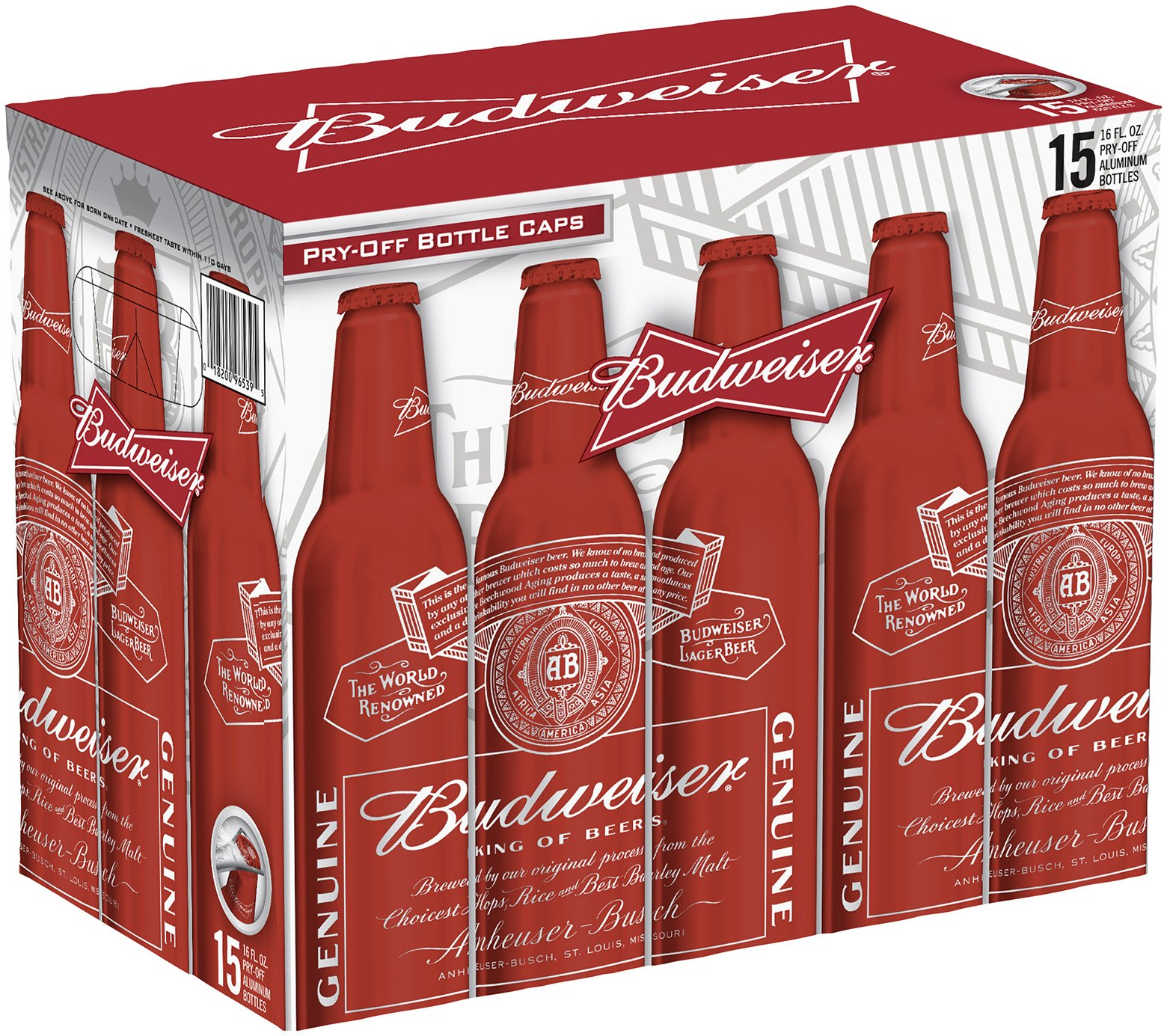 Budweiser Beer Aluminum Bottles Shop Domestic Beer at HEB