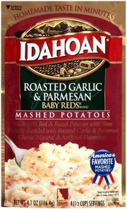 idahoan roasted garlic and parmesan baby reds flavored mashed