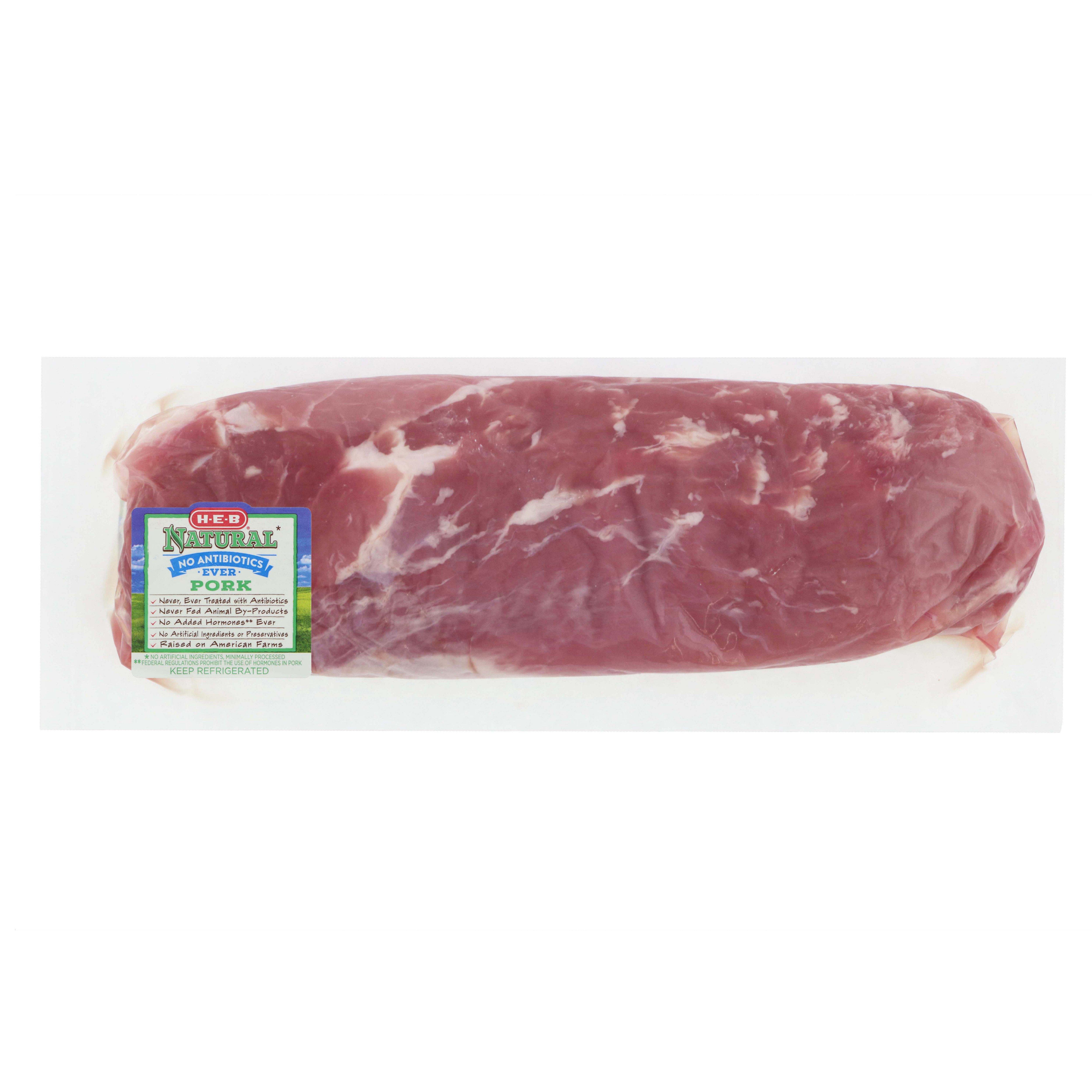 H‑E‑B Natural Pork Tenderloin ‑ Shop