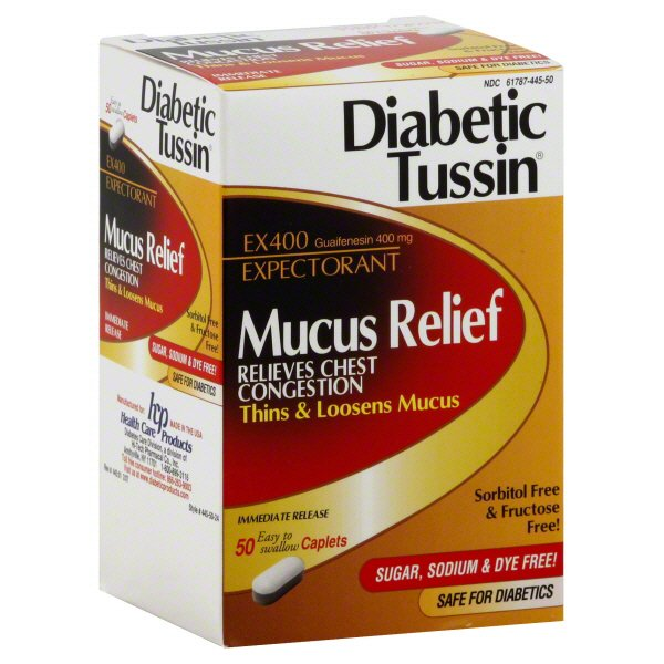 Diabetic Tussin Mucus Relief Guaifenesin 400 Mg