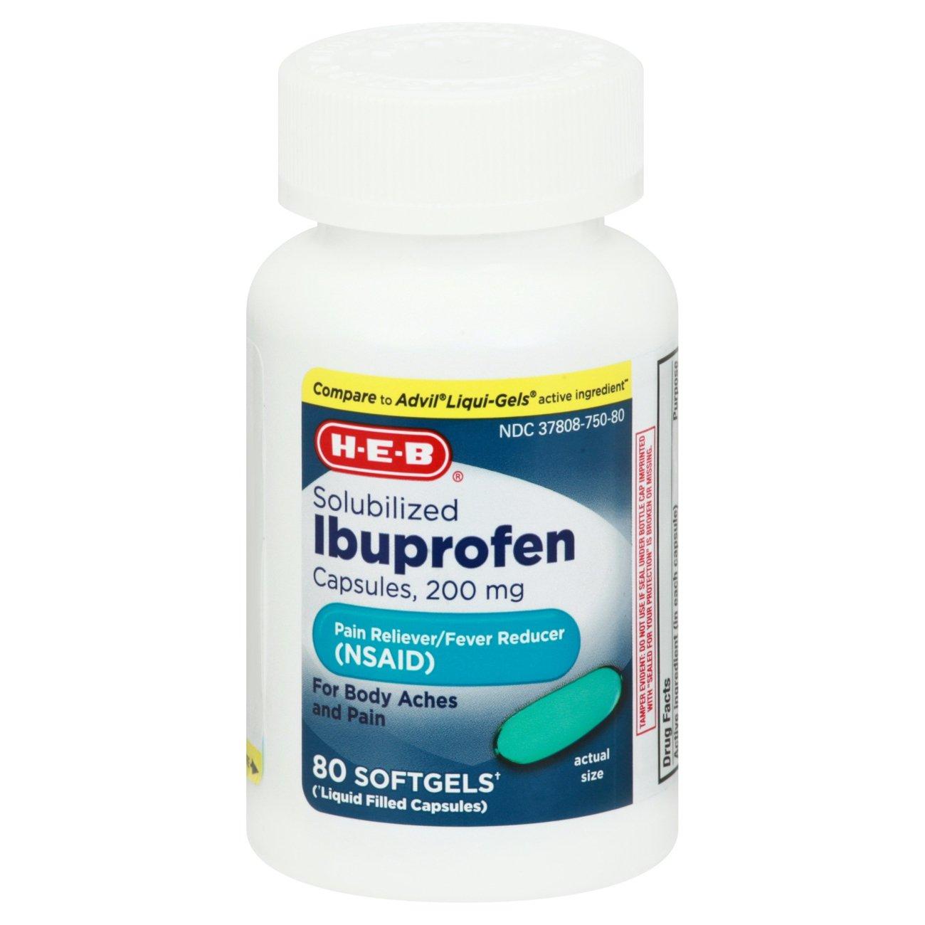 H-E-B Ibuprofen 200 Mg Softgels - Shop