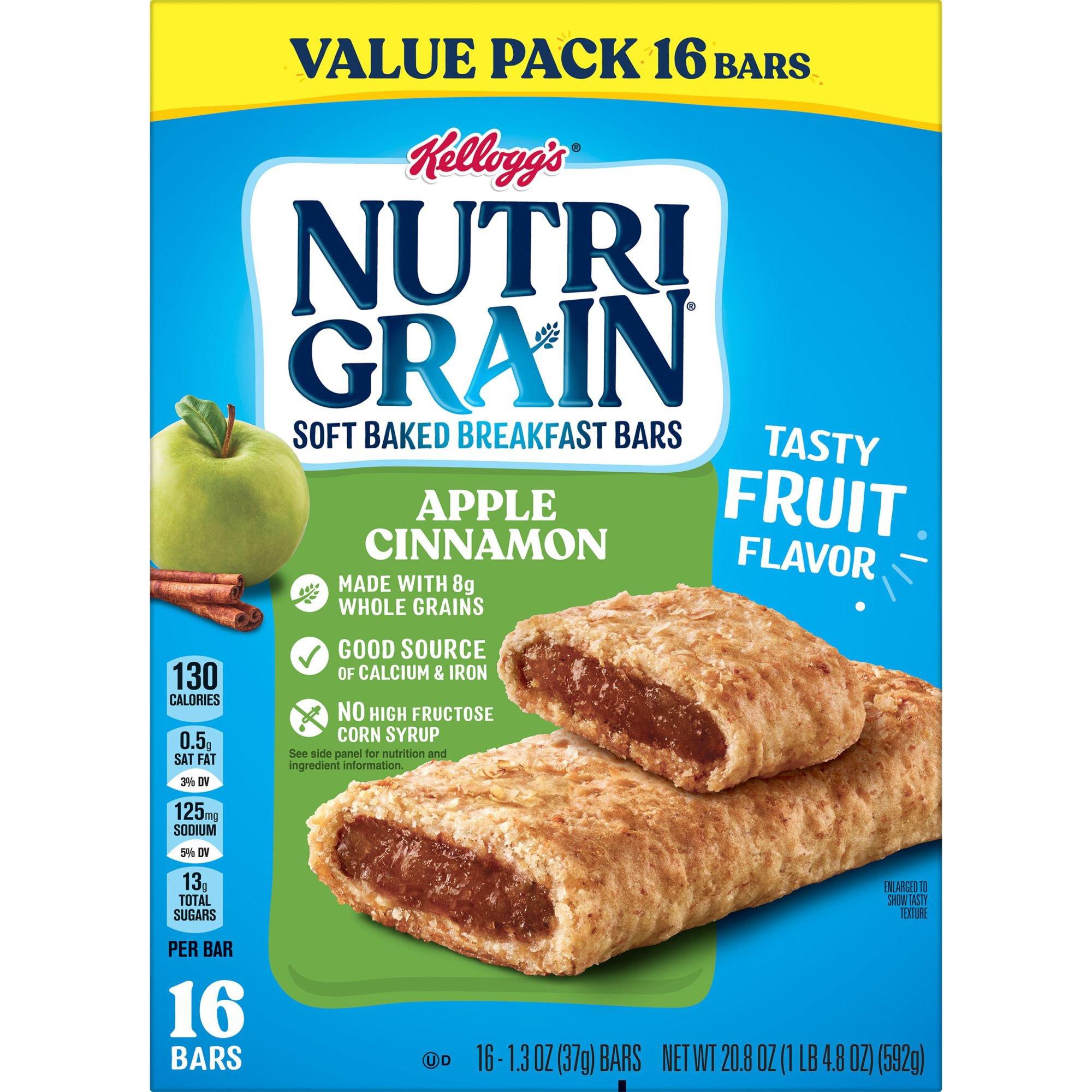 Grain Apple Cinnamon Cereal Bars Value