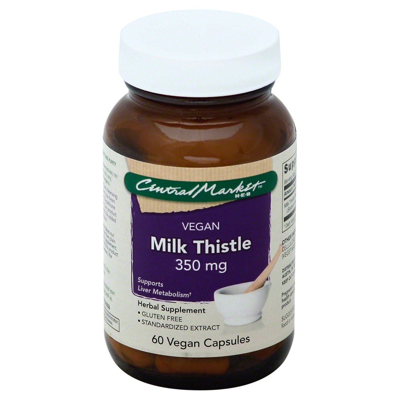 Cheap herbal supplement - Central Market Milk Thistle 350 Mg Vegan Capsules