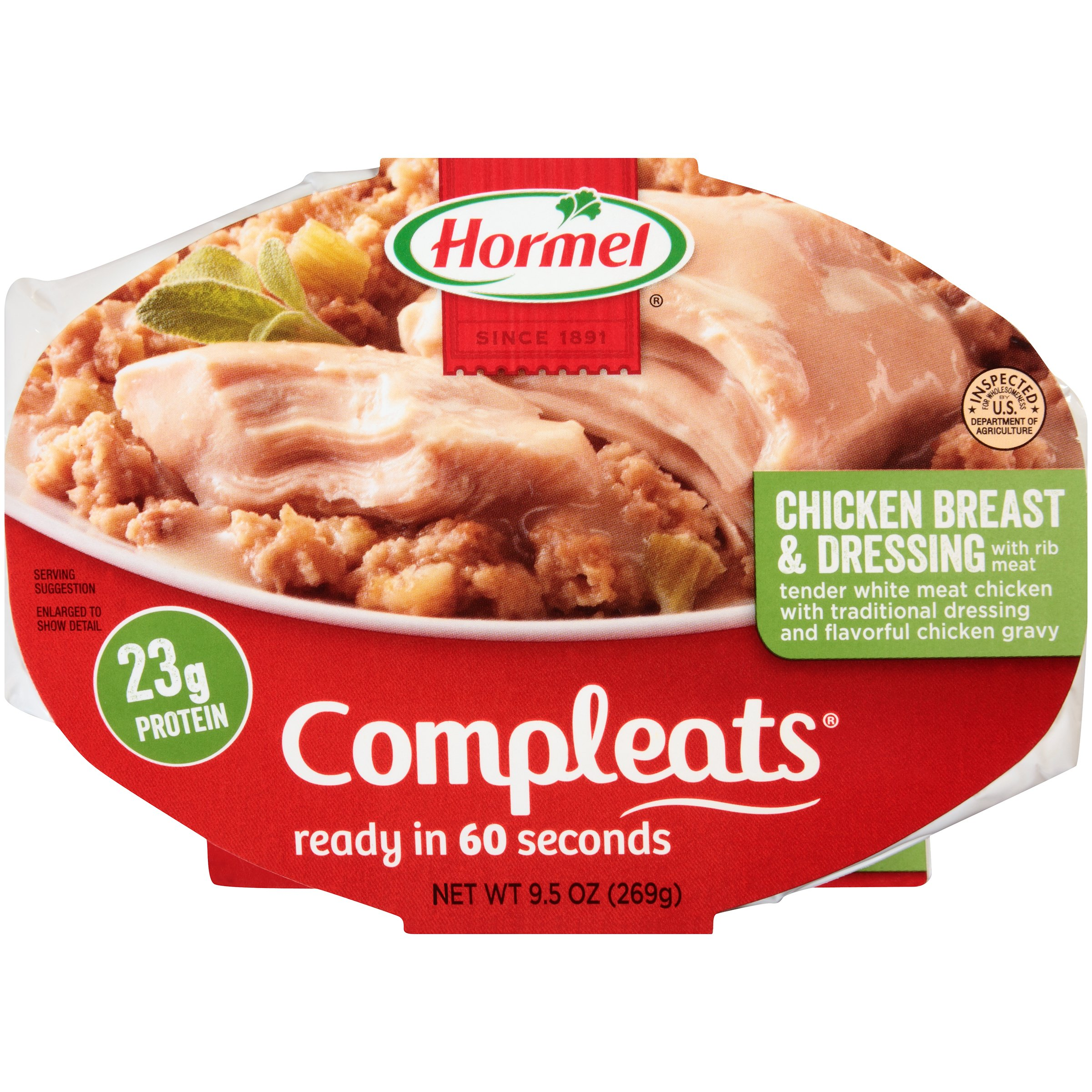 Hormel Compleats Chicken Breast Dressing Shop Pantry Meals At H E B