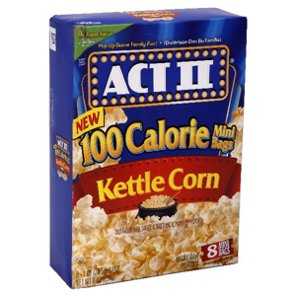 Act Ii 100 Calorie Mini Bags Kettle Corn Microwave Popcorn And Rice Cakes At Heb
