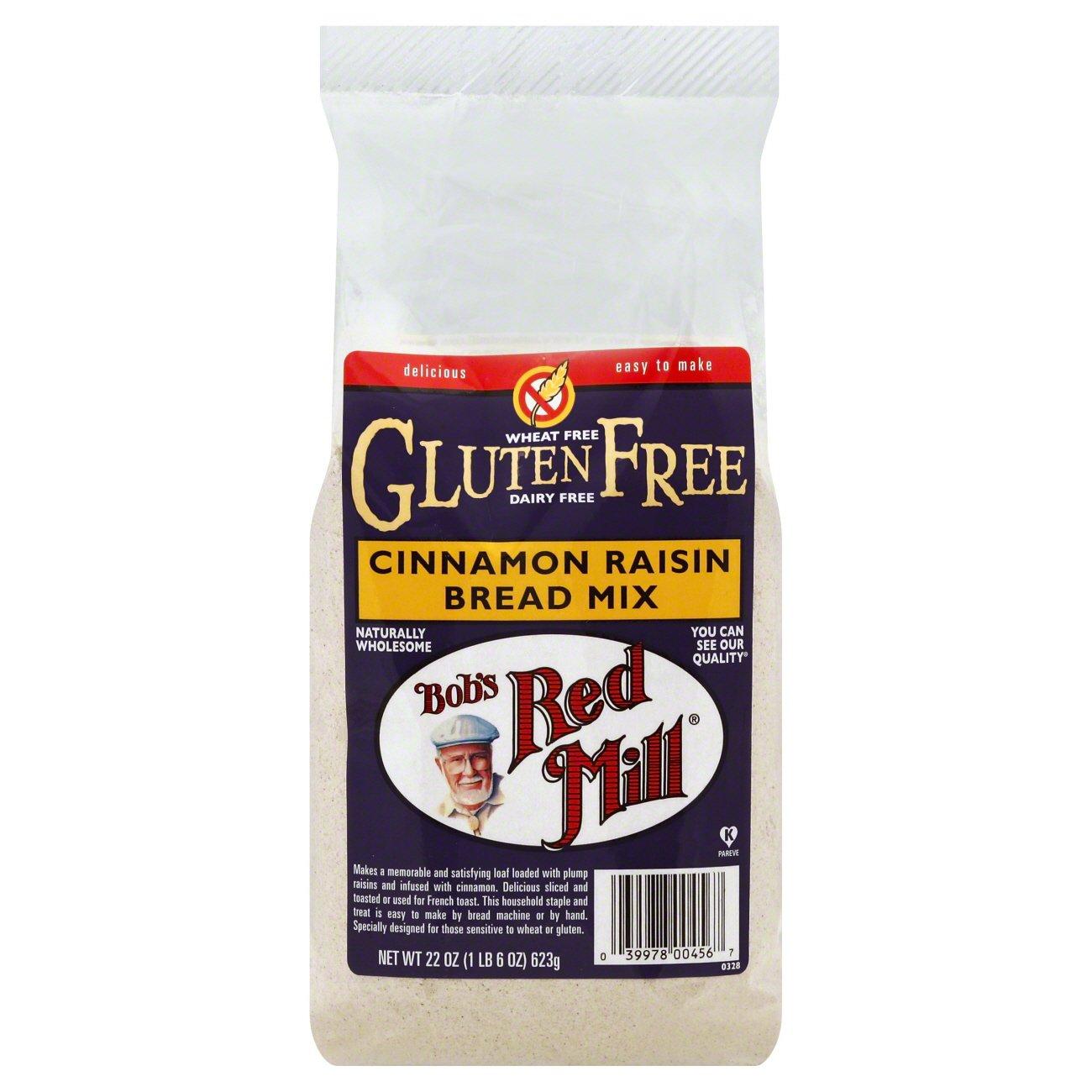 Bob's Red Mill Gluten Free Cinnamon Raisin Bread Mix ...