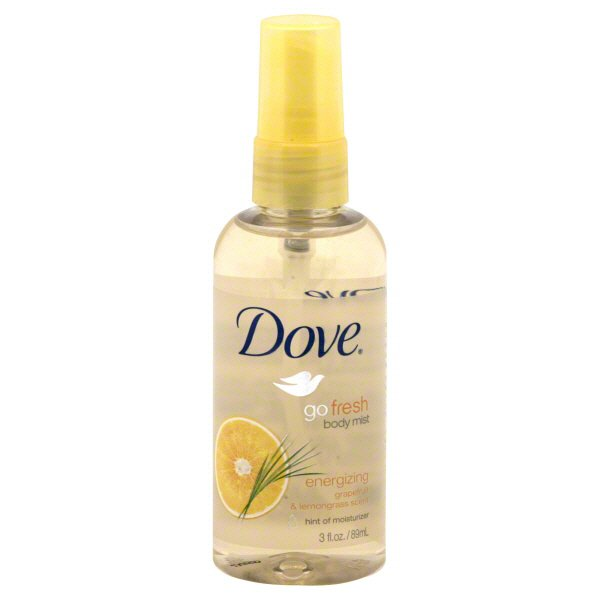 Dove Gofresh Energizing Grapefruit Lemongrass Scent Body Mist Shop Deodorant Antiperspirant At H E B