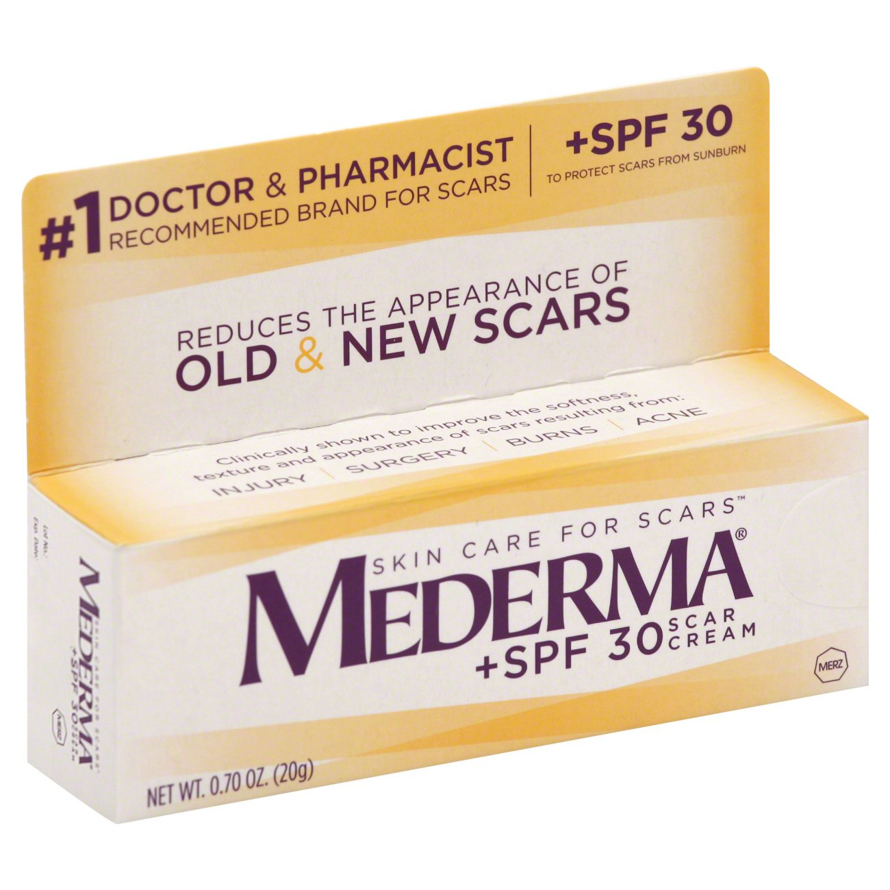 Mederma Scar Cream Spf 30 Sunscreen Shop Facial Masks Treatments At H E B