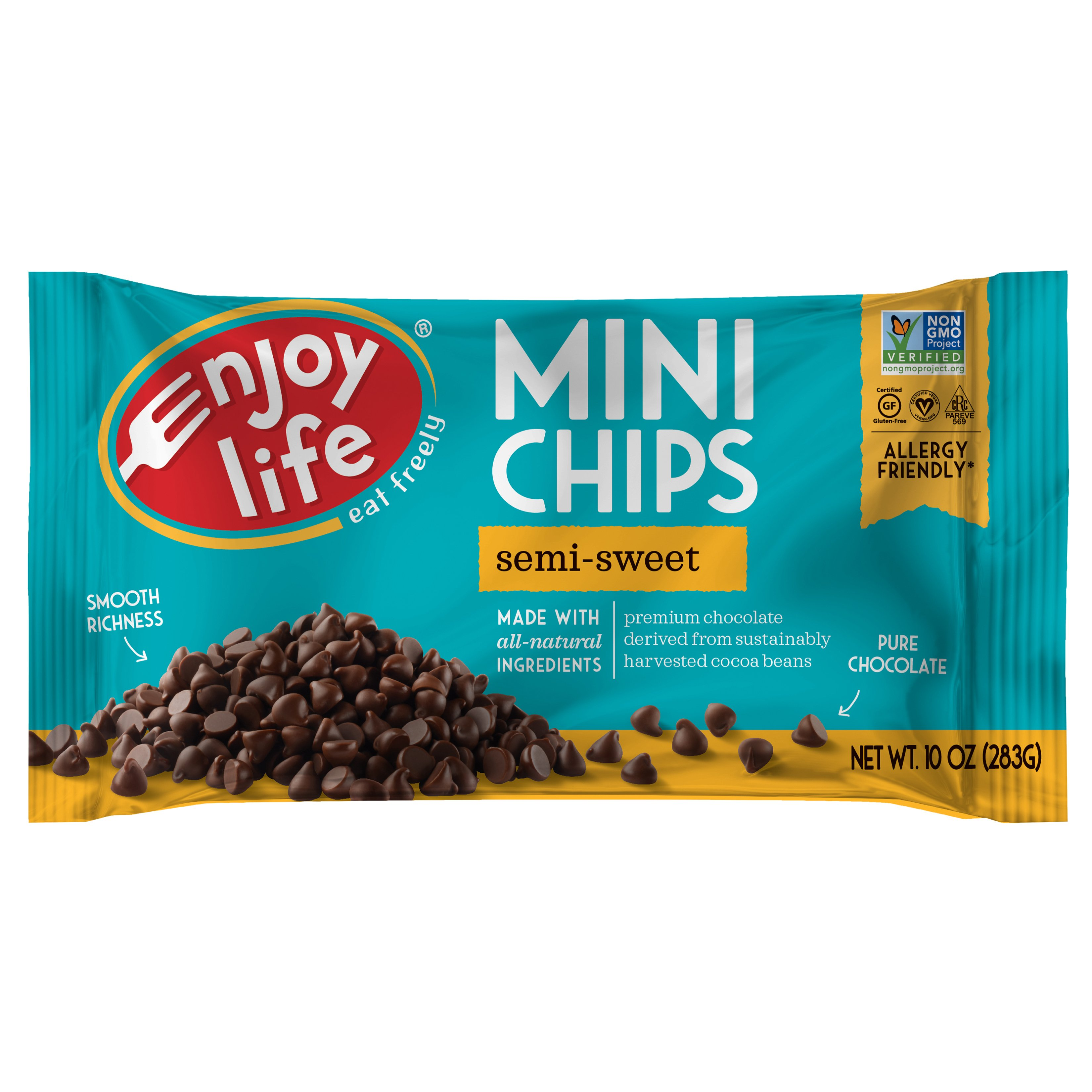 Enjoy Life Vegan Allergy Friendly Semi-Sweet Chocolate Mini Chips ...