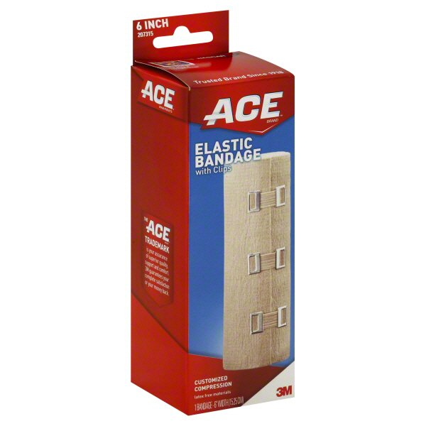 Ace 6 Inch Elastic Bandage With Clips Shop Sleeves Braces At H E B