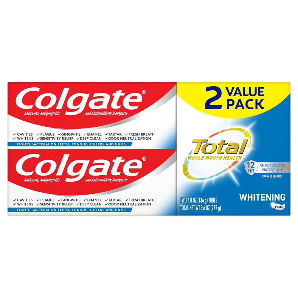 Colgate Total Whitening Toothpaste 2 Pk Shop Toothpaste At H E B