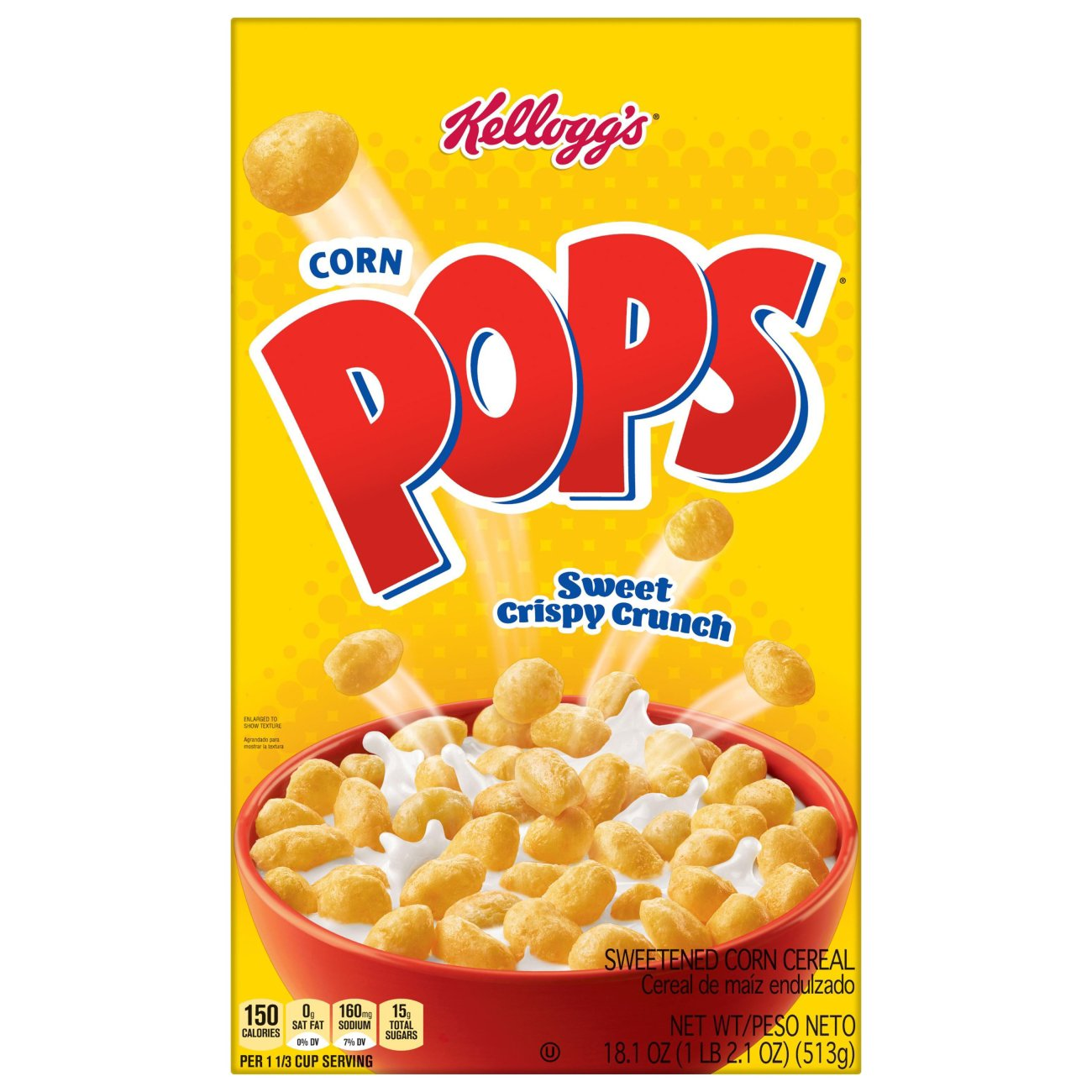 Kellogg's Corn Pops Cereal Family Size