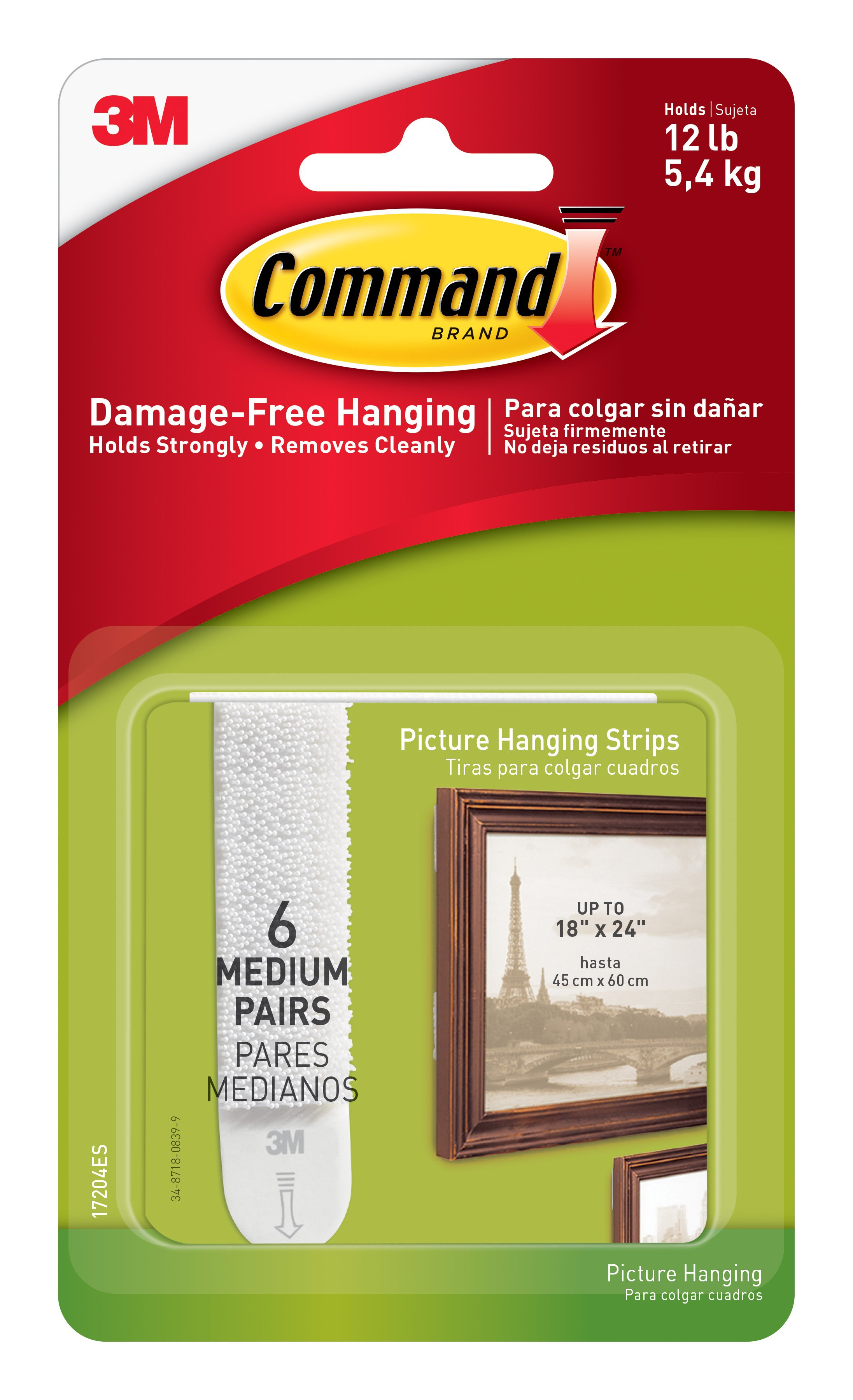 Command Damage-Free Picture Frame Hanging Strips Value Pack Hooks Hangers